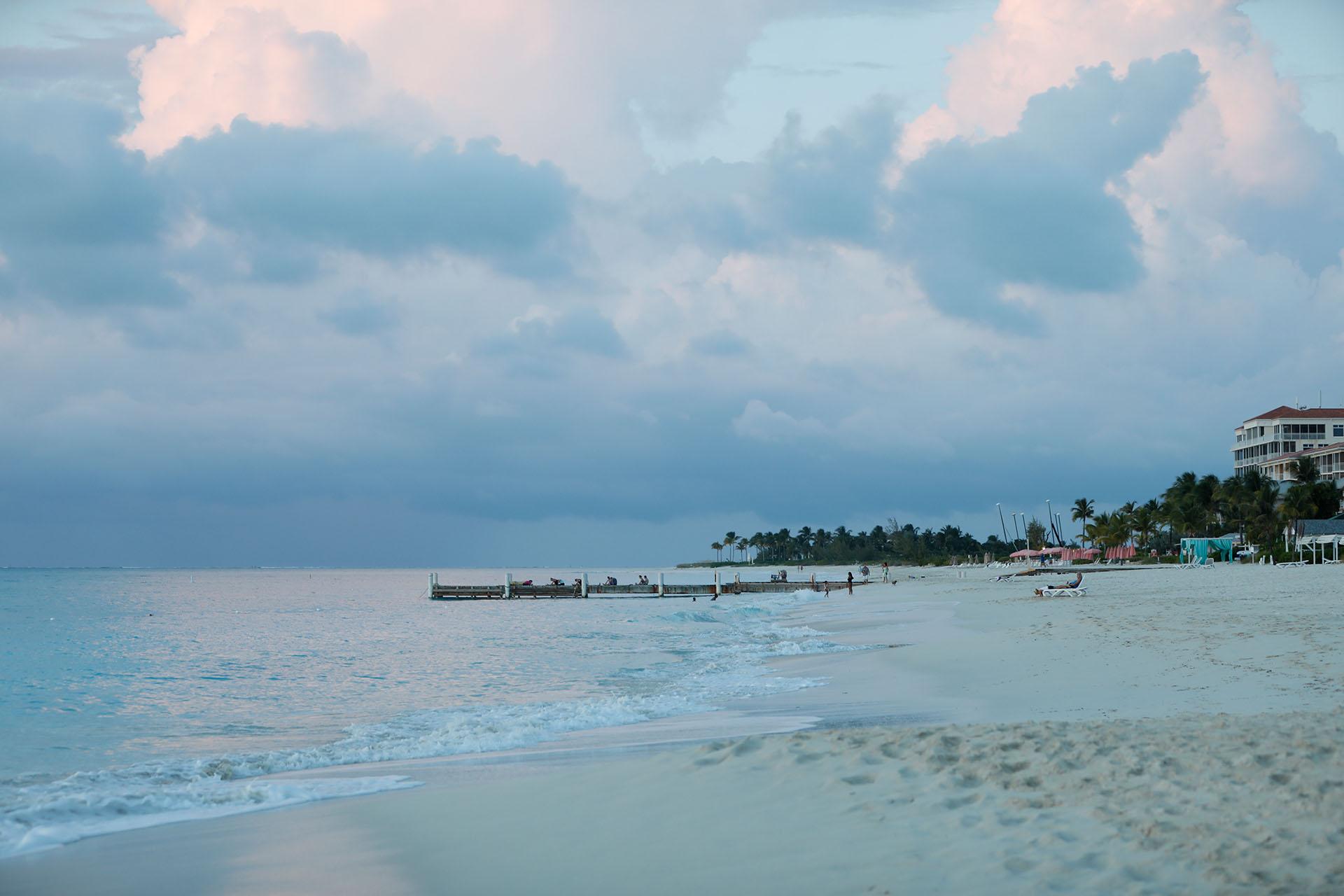 Aun en las pocas veces que el cielo se nubla el paisaje sigue siendo digno de contemplación