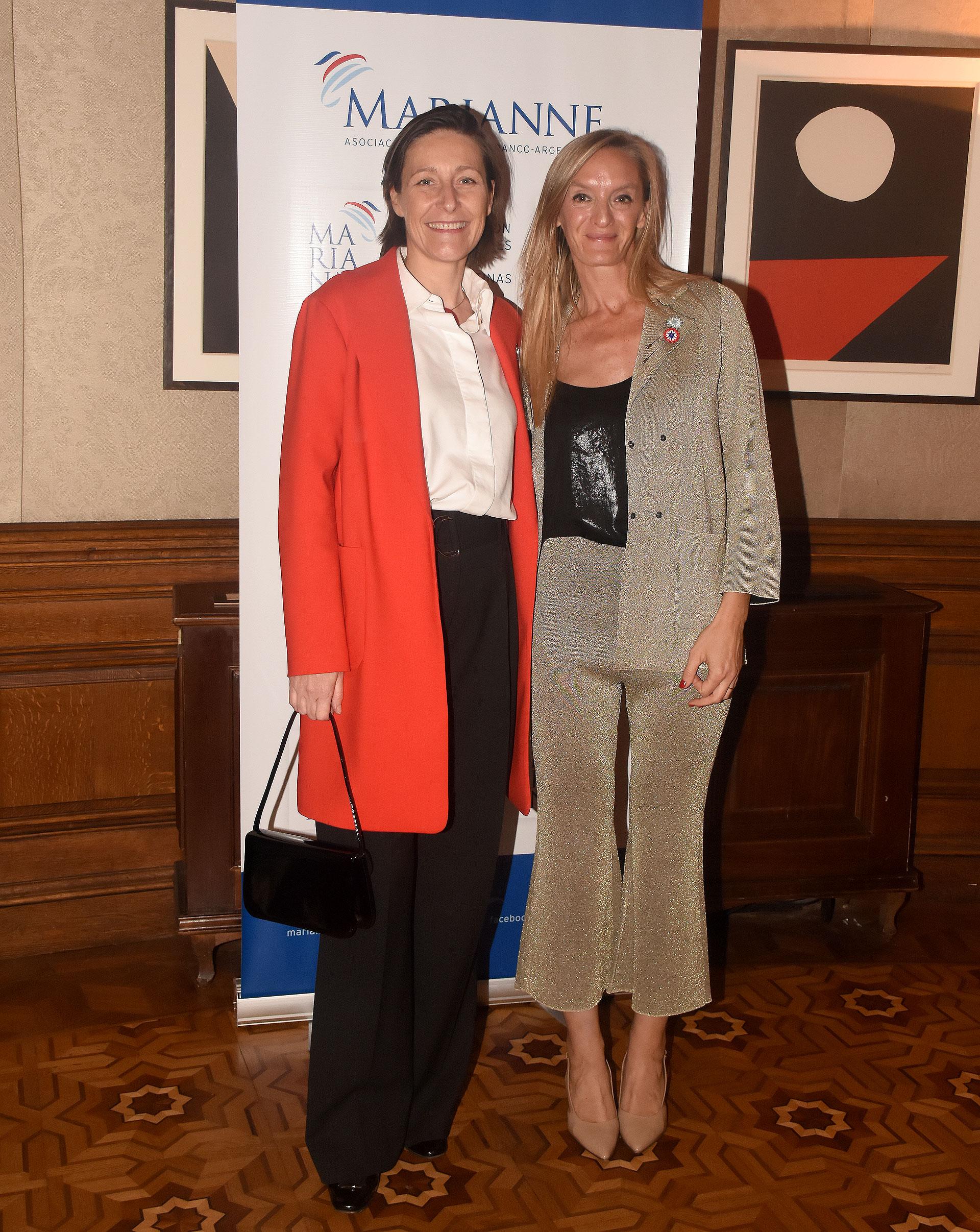 Aude Maio-Coliche, embajadora de la Unión Europea en Argentina y Eugenia Botta