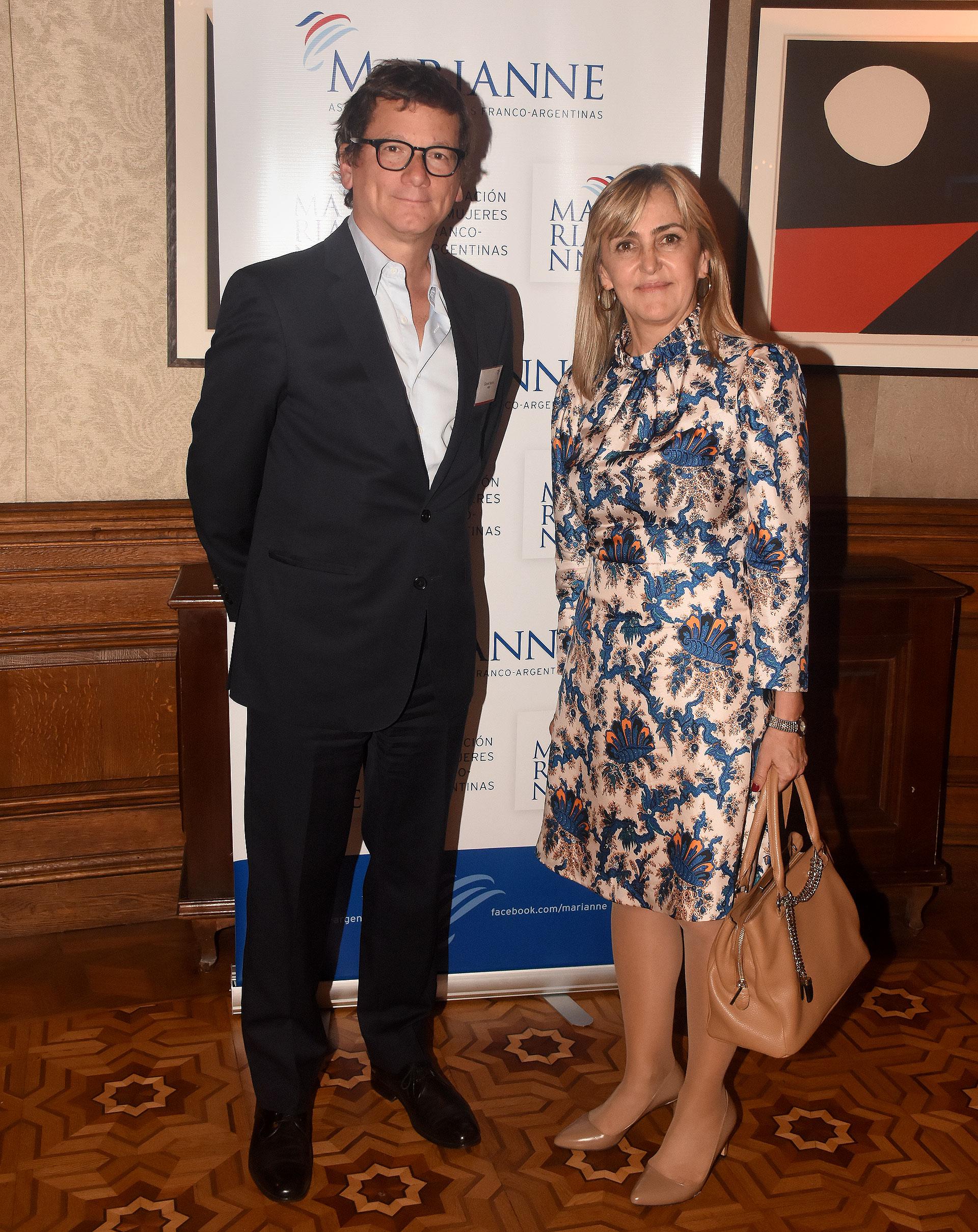 Gabriel Martino, presidente HSBC y Alejandra Alberdi, presidente Aysa