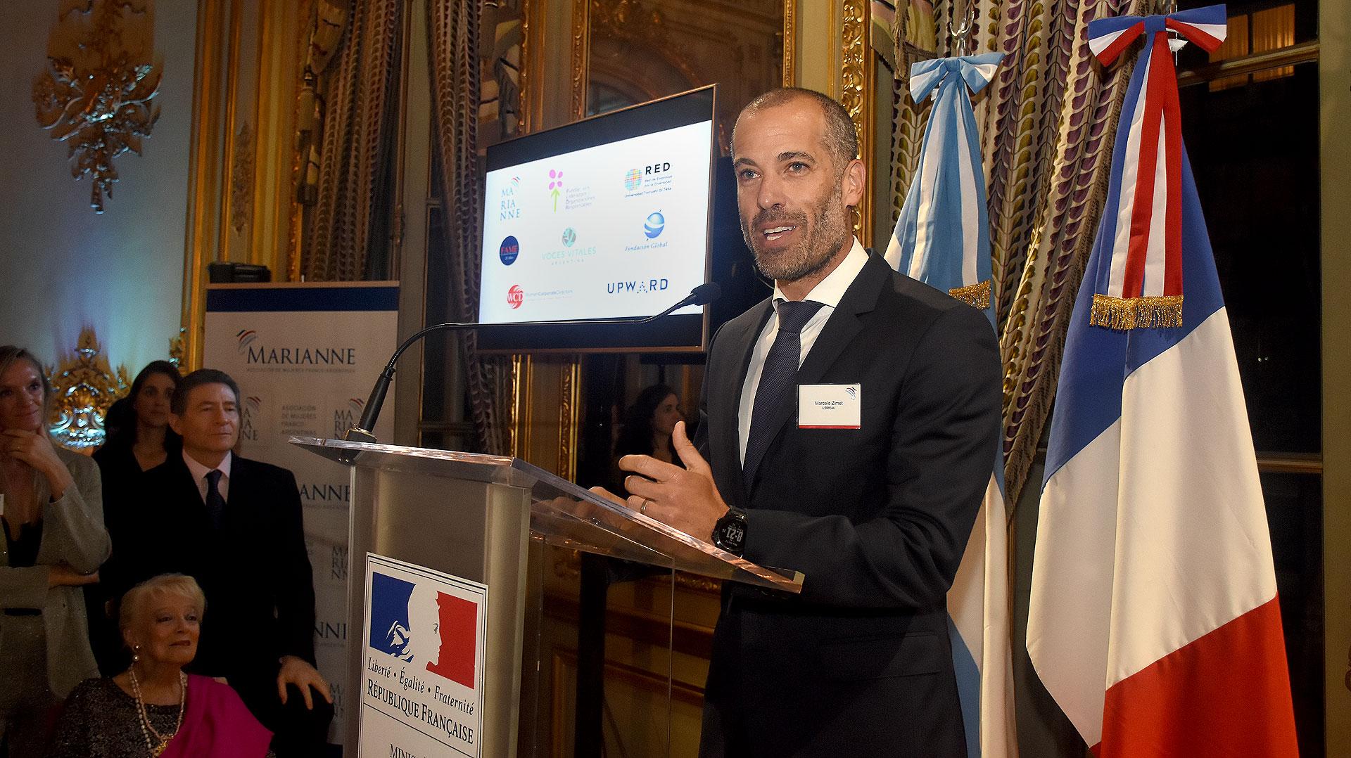 """Marcelo Zimet, presidente de L'Oreal destacó que la empresa """"pretende tener un rol activo en la promoción de la equidad de género y el empoderamiento femenino""""."""