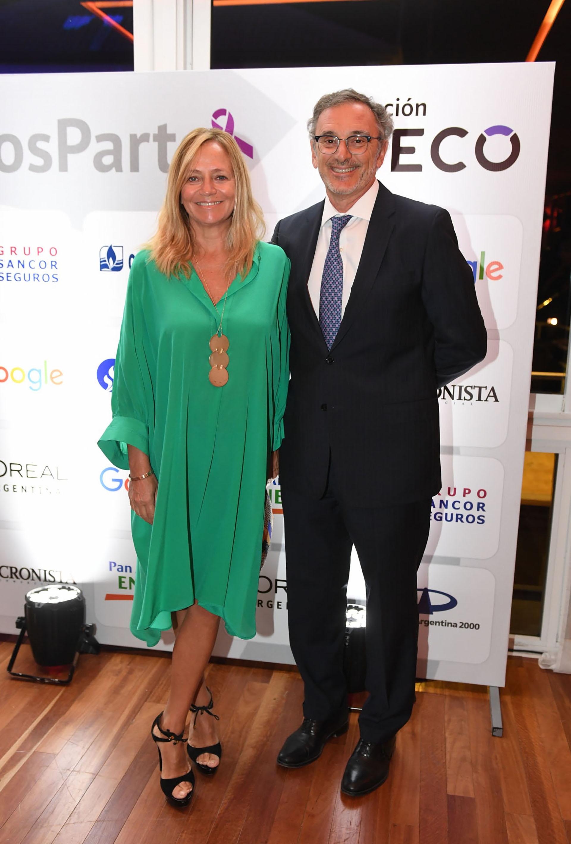 Claudio Cesario, presidente de la Asociación de Bancos de la Argentina (ABA), y su mujer Nélida Barral