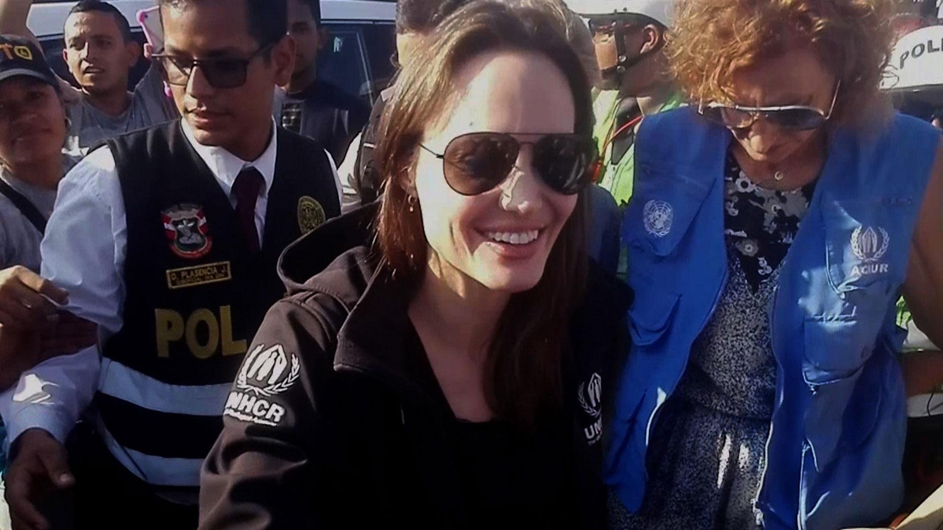La actriz visitó la frontera entre Ecuador y Perú y luego se trasladó a Lima