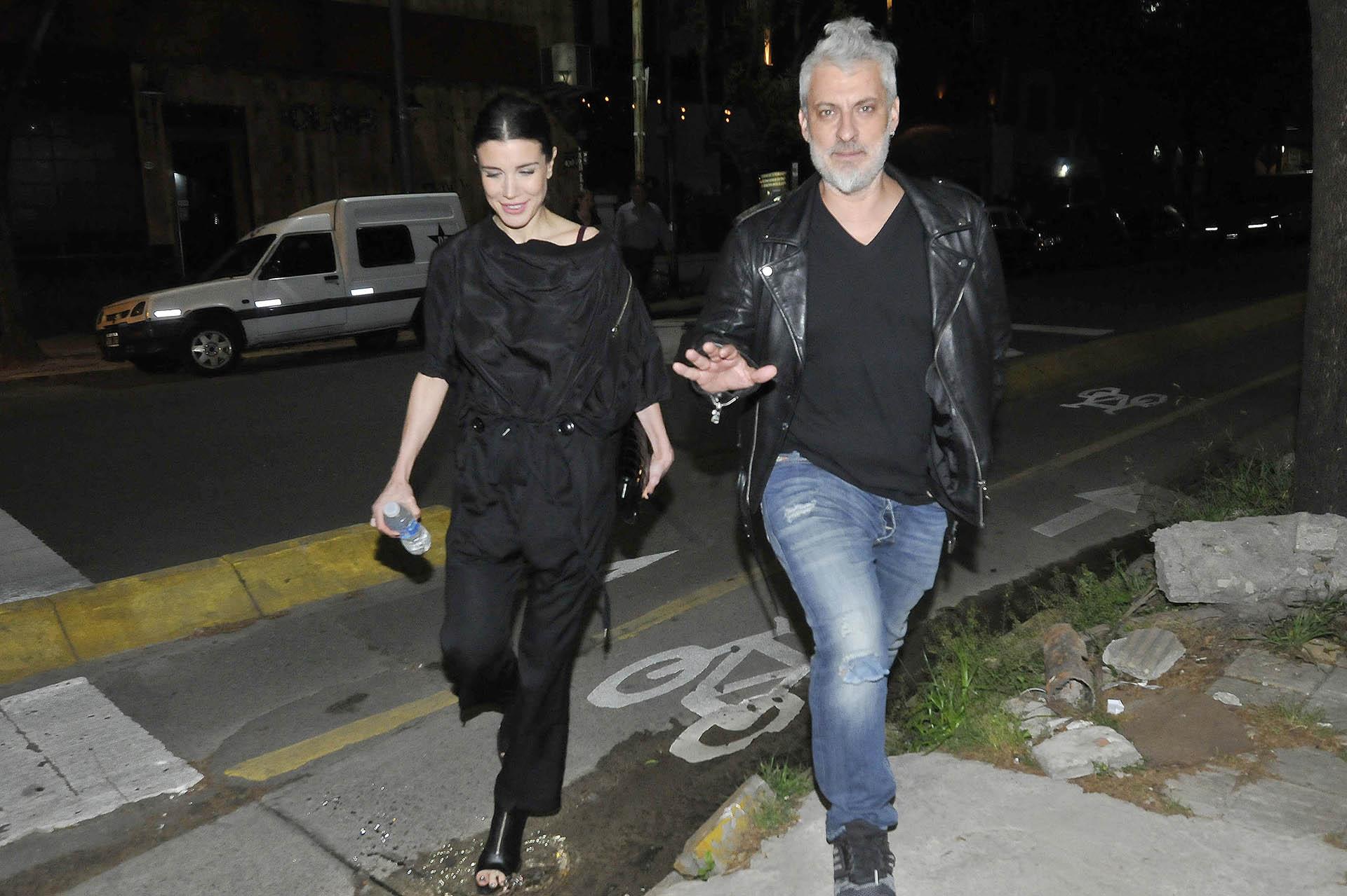 Andrea Rincón y José Palazzo, el mánager de Charly García