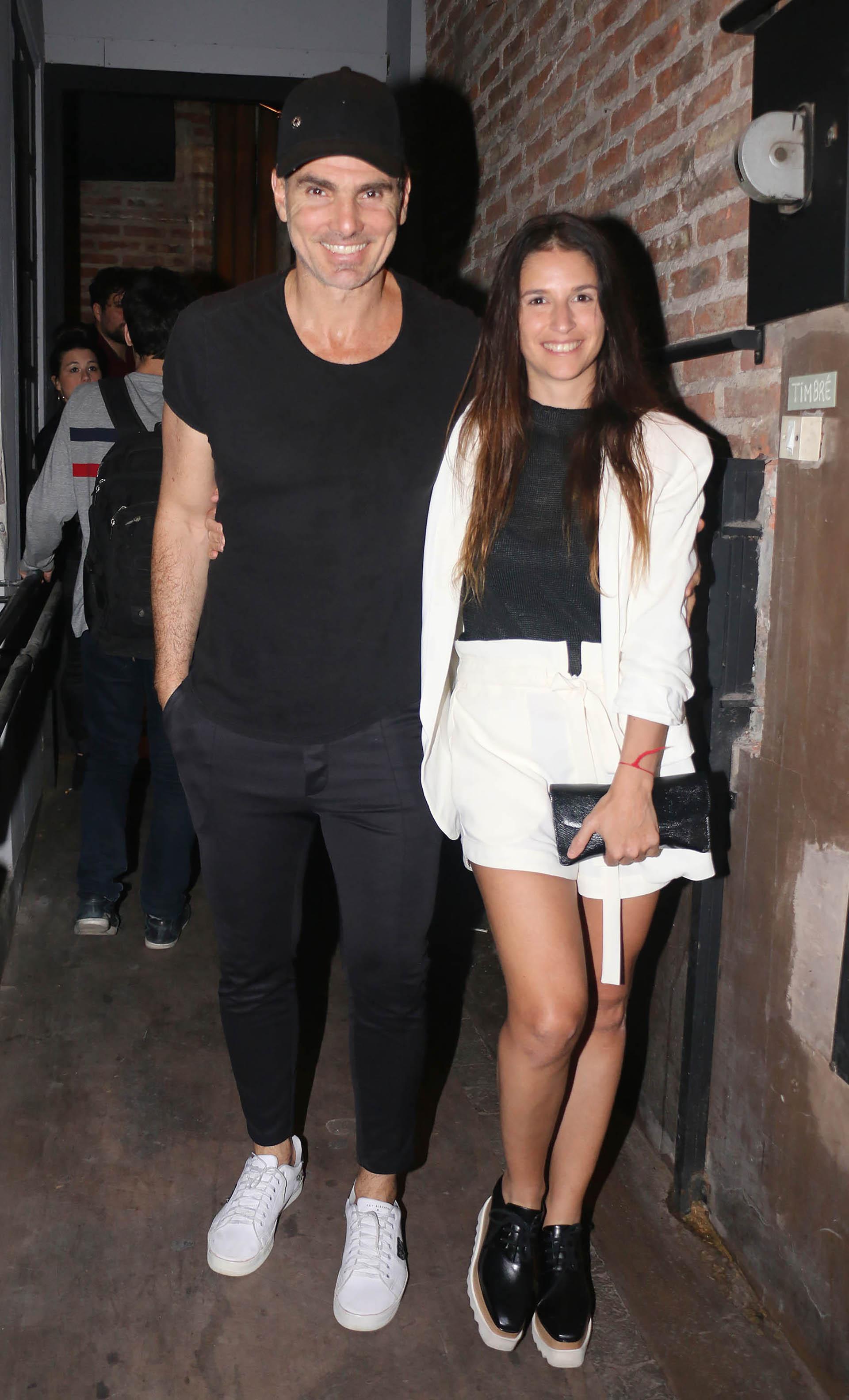 Nicolás Cuño y su mujer Giselle Kañevsky