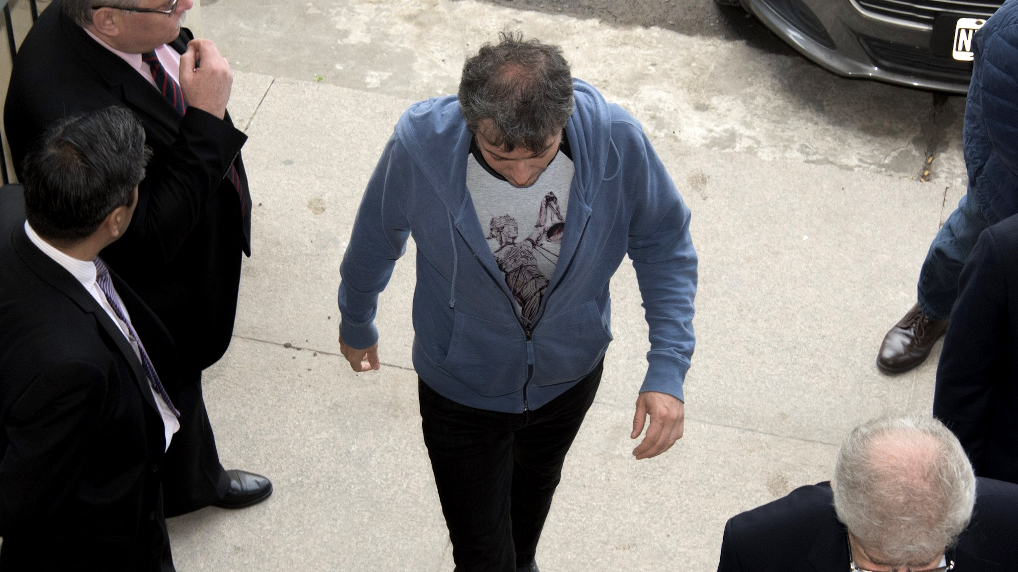 Así ingresaba Máximo Kirchner a los Tribunales de Comodoro Py