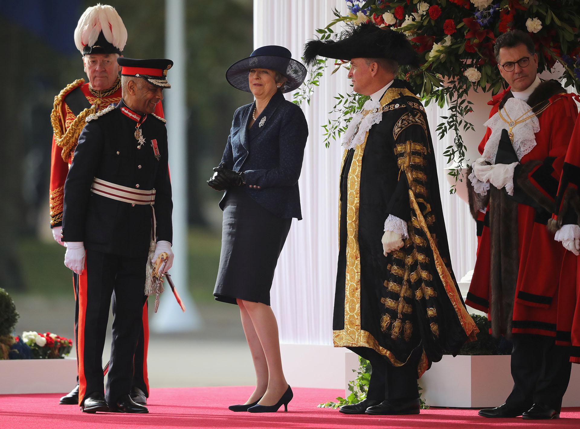 La primer ministraTheresa May también participó de la ceremonia. En las próximas horas tendrá un encuentro privado con los reyes de Holanda