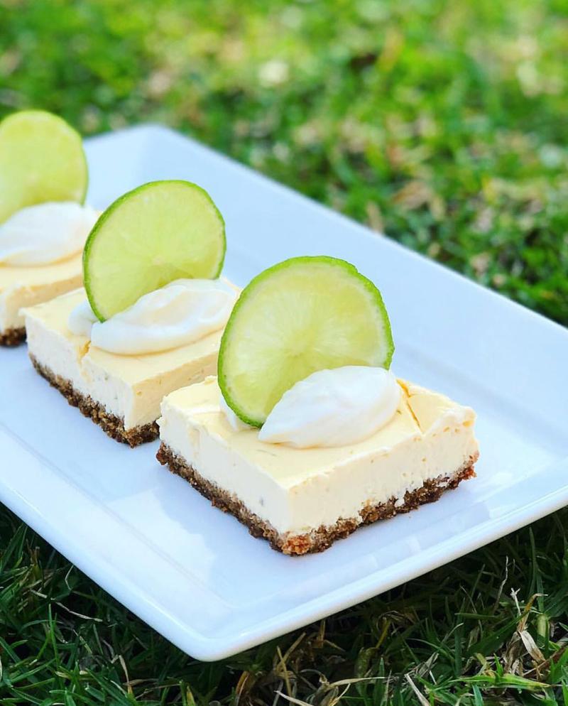 Key Lime Pie saludable, una de las delicias top de la cuenta de Mica en Instagram. Fácil, rica y sana