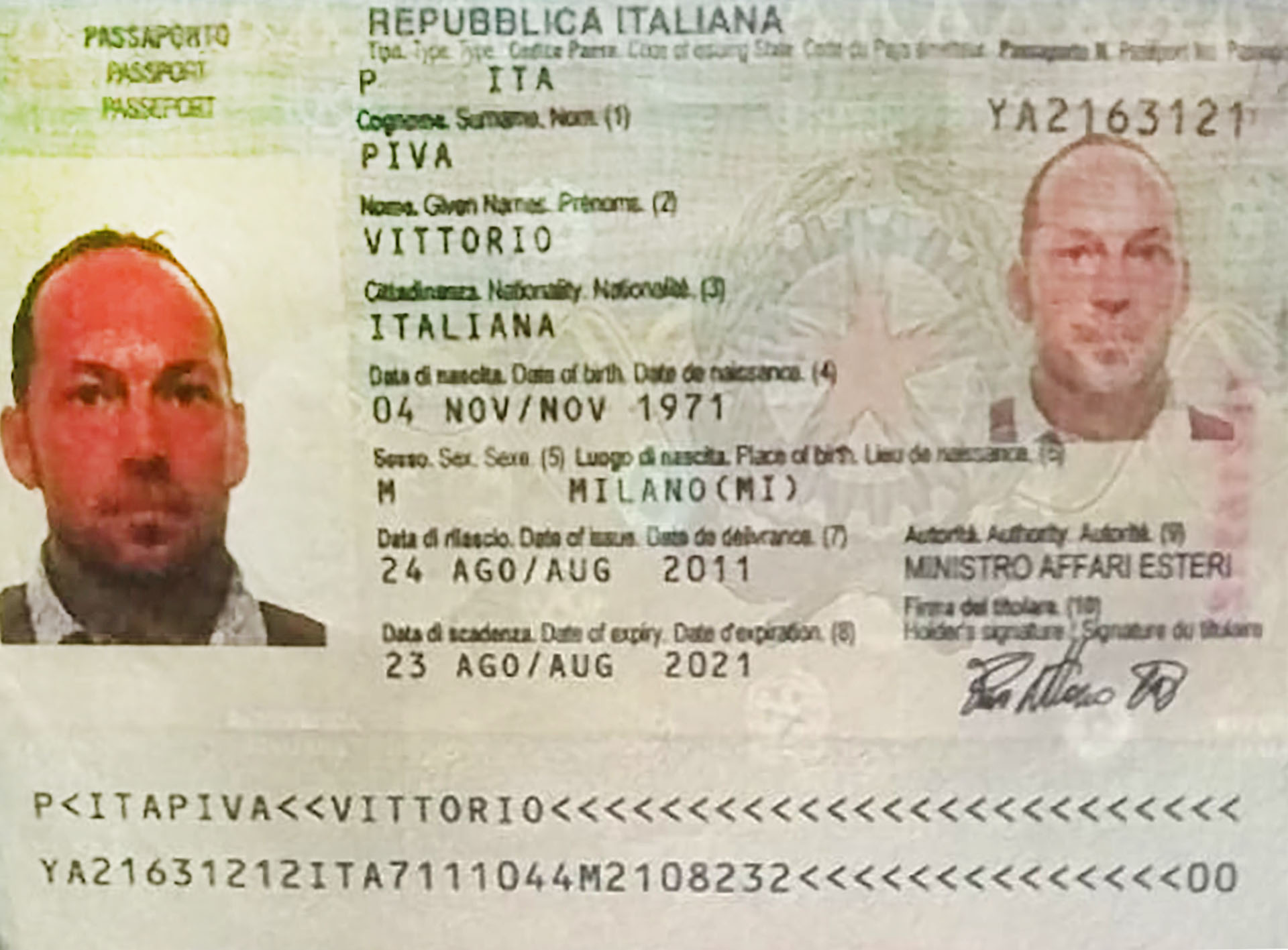 El pasaporte dePiva