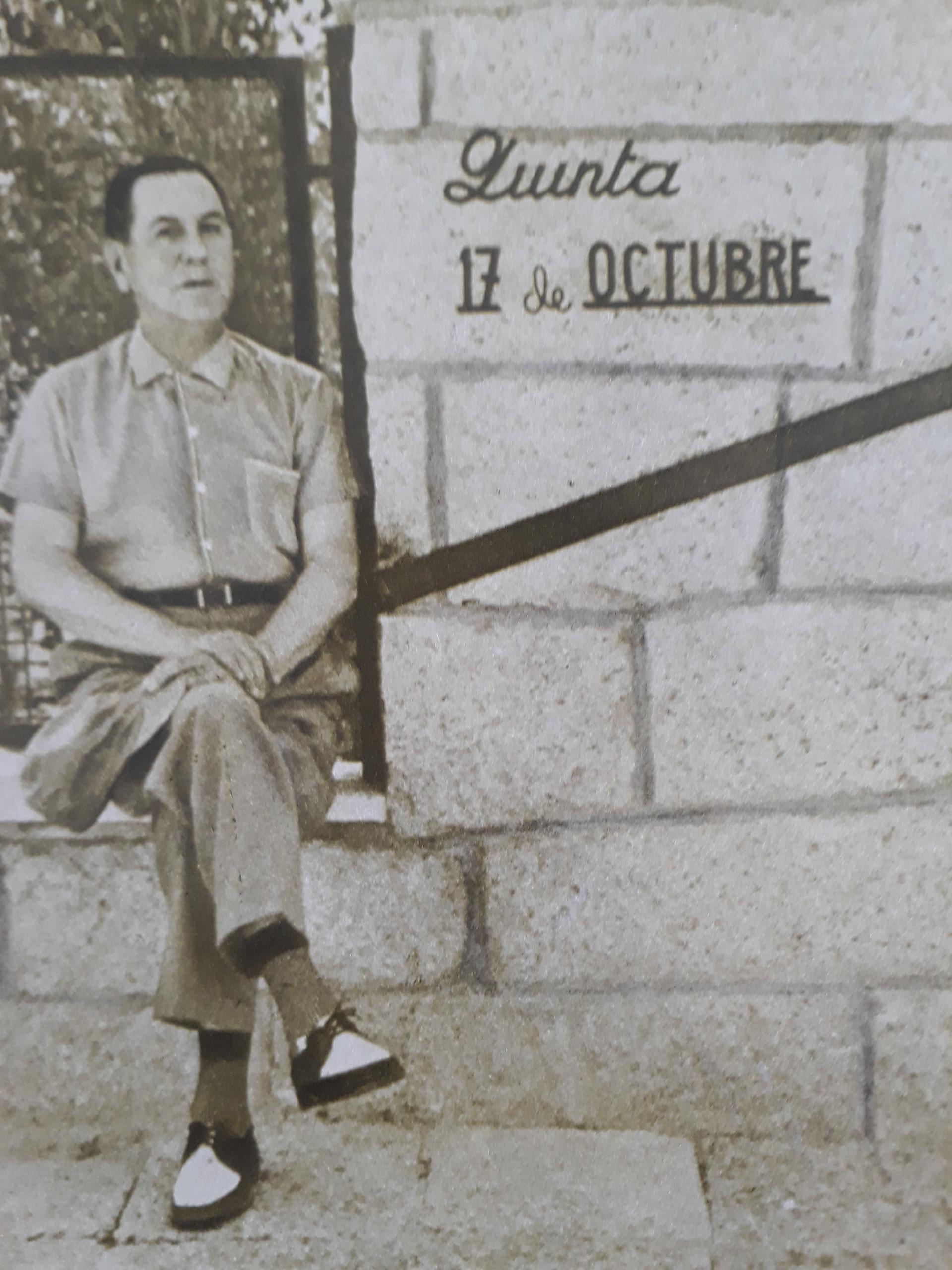 Perón en la Quinta 17 de Octubre