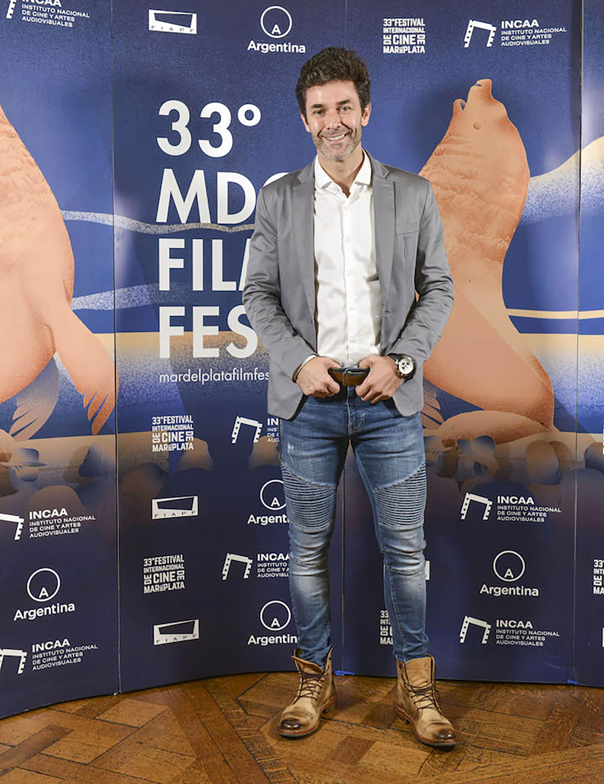 Mariano Martínez, en la presentación de la programación del 33° Festival Internacional de Cine de Mar del Plata
