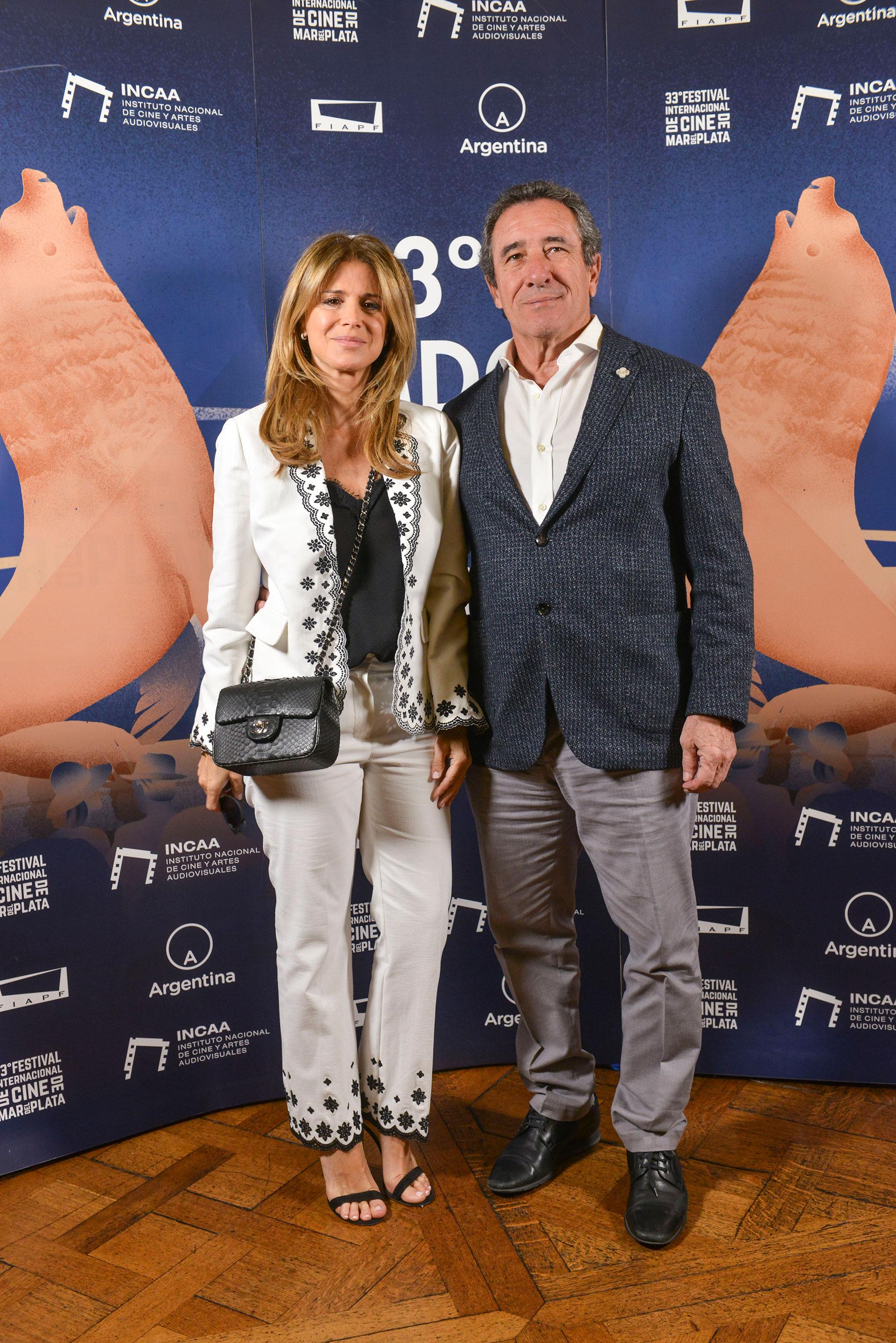 Flavia Palmiero y Luis Scalella.