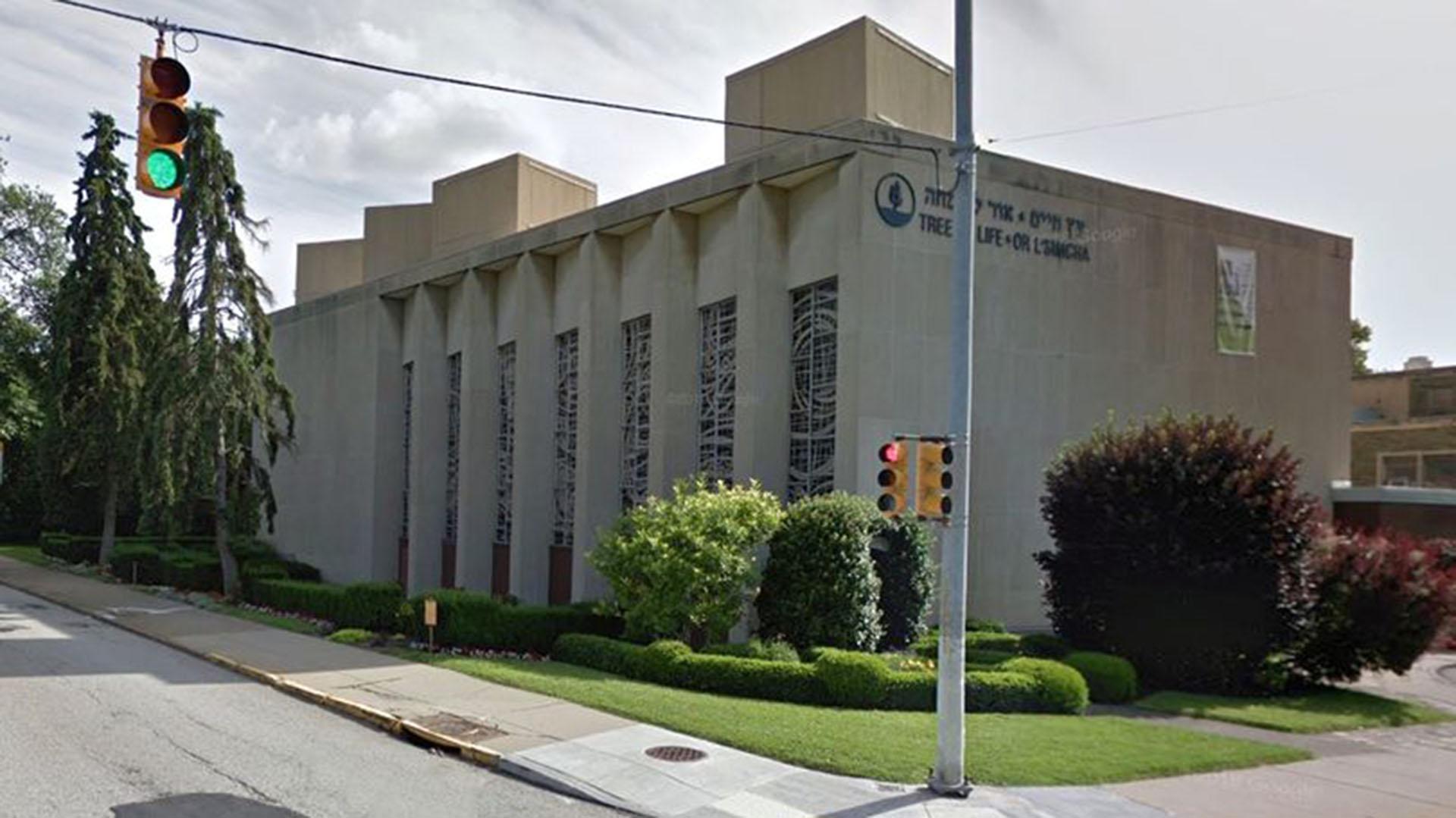 La sinagoga Tree of Life Congregation en la avenida Wilkins de Pittsburgh