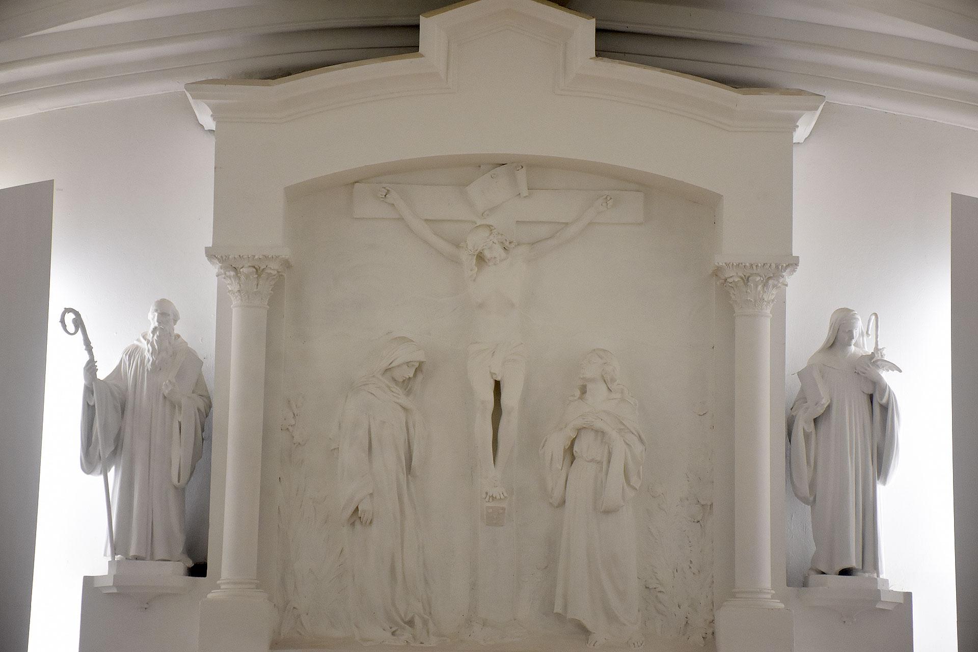 El interior de una de las capillas de La Abadía