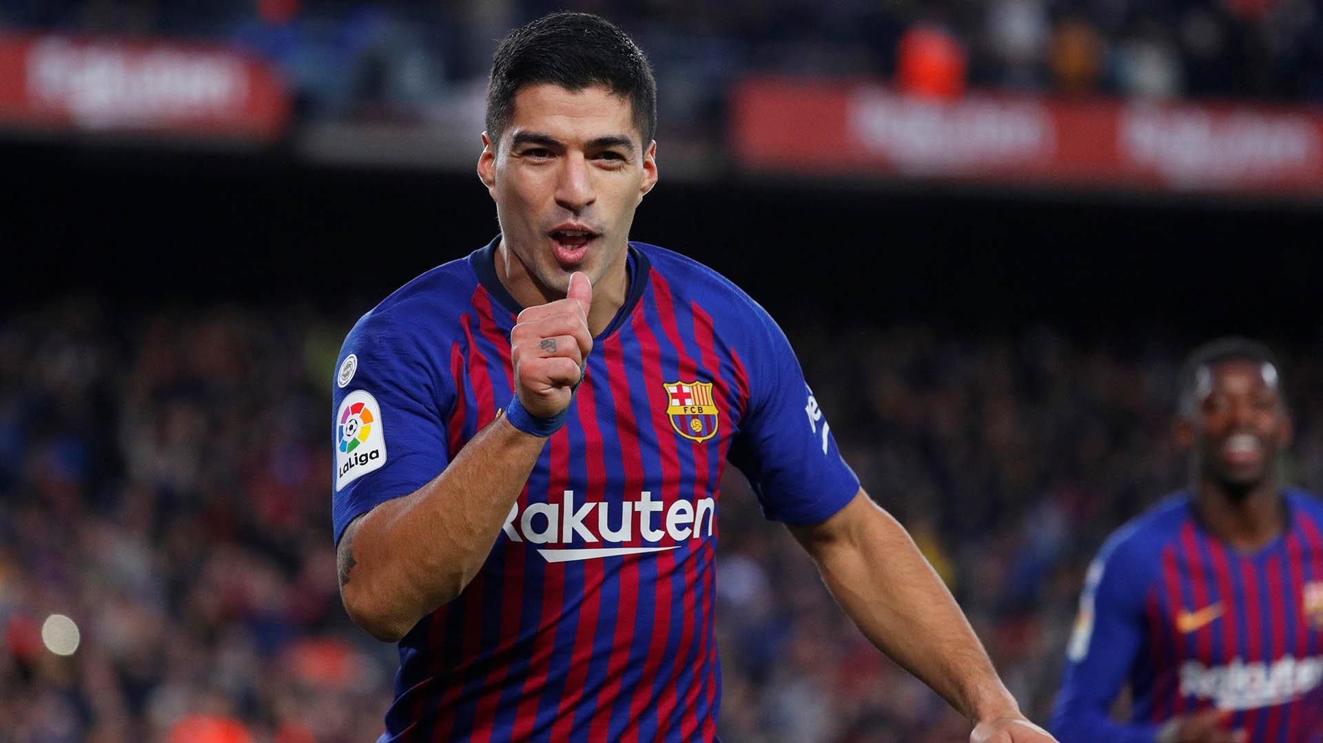 Luis Suárez, figura del Barcelona en la goleada ante Real Madrid (REUTERS/Paul Hanna)
