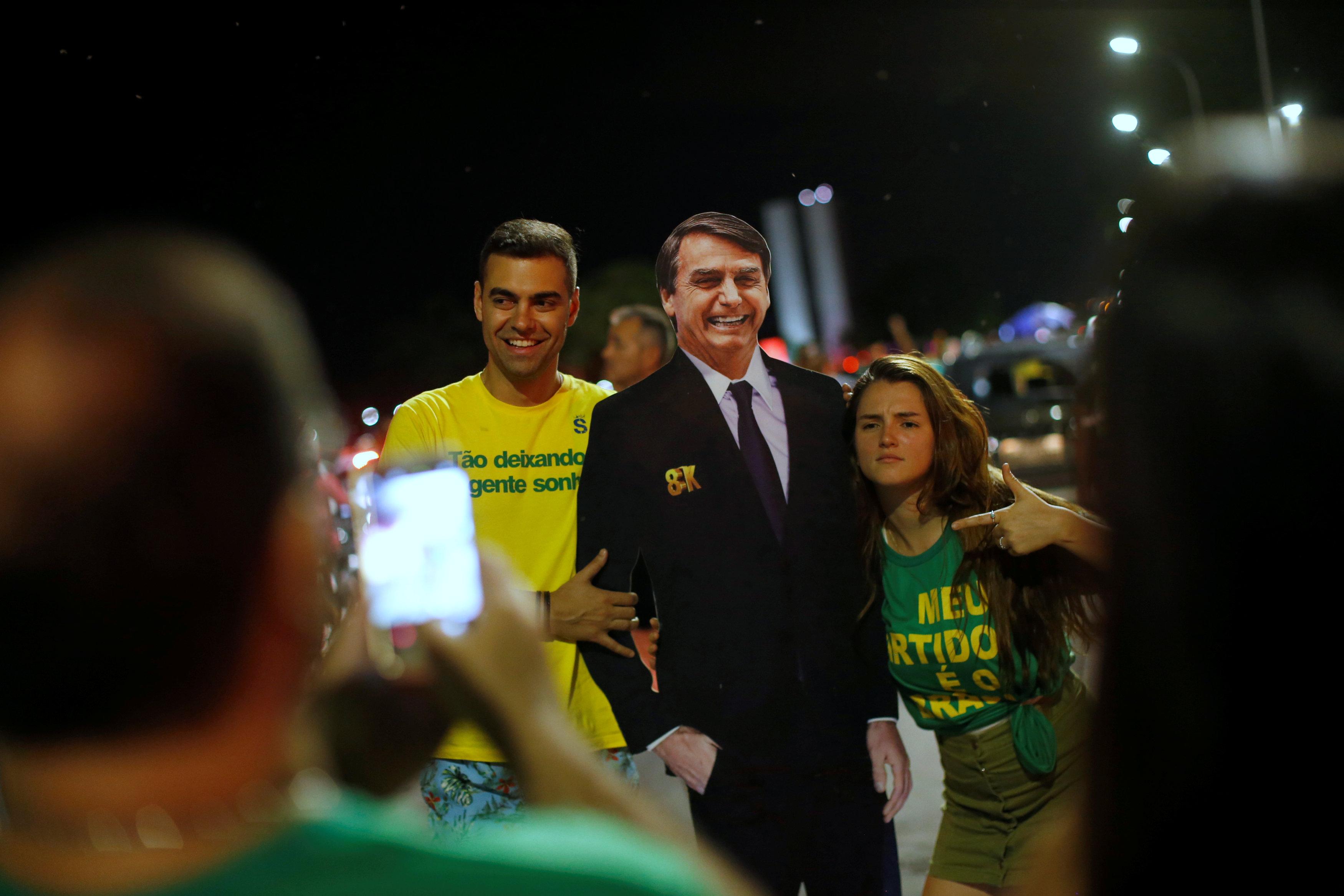 Simpatizantes de Bolsonaro en Brasilia. (REUTERS/Adriano Machado)