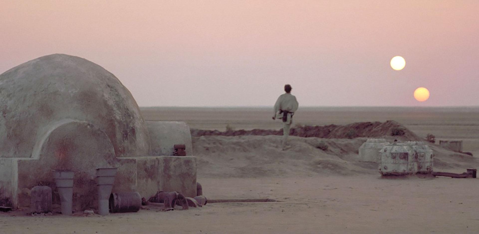 El planeta hogar de Luke Skywalker tuvo como locación Túnez, el país de África del Norte