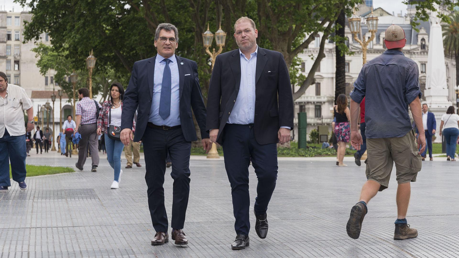 El Secretario de Derechos Humanos, Caludio Avruj, junto a Hernán Anbinder, director de prensa de la Secretaría de Derechos Humanos