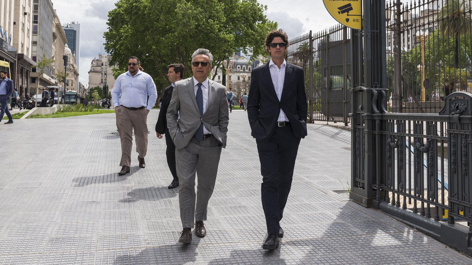El gobernador de Mendoza, Alfredo Cornejo y el diputado Martín Lousteau