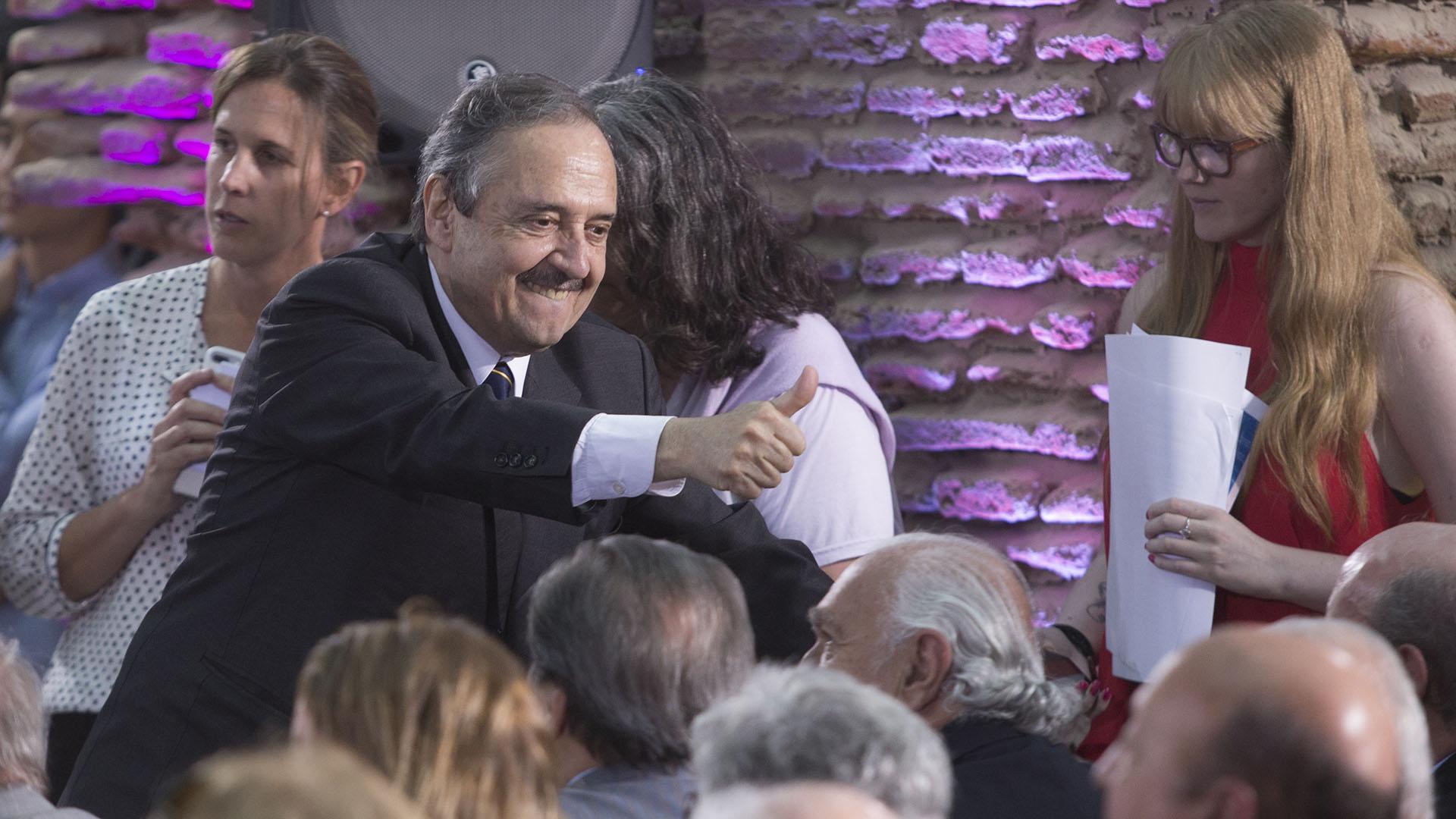 Ricardo Alfonsín, hijo del ex presidente, fue uno de los protagonistas de la jornada
