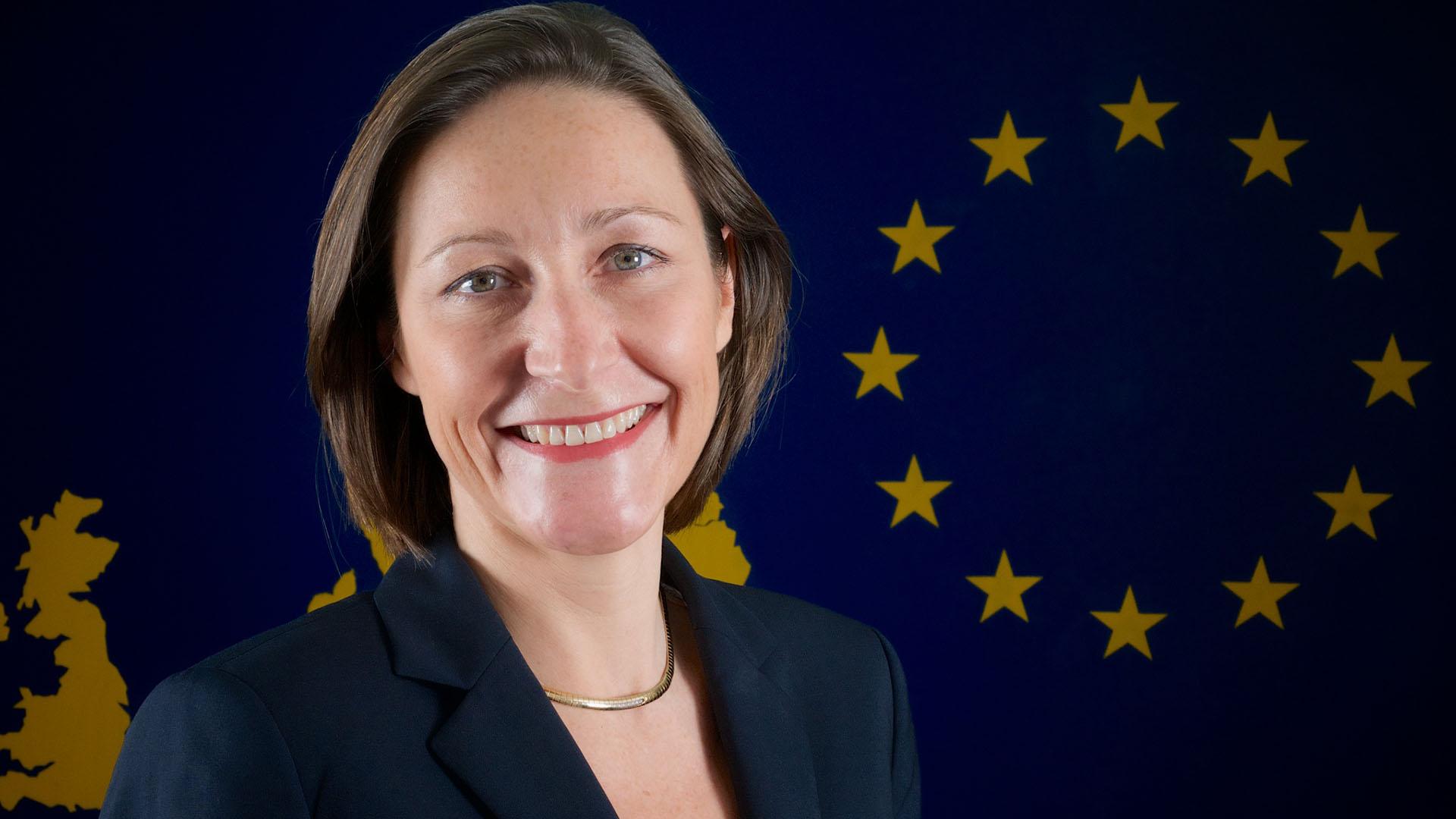 La embajadora de la UE en la Argentina, Aude Maio-Coliche