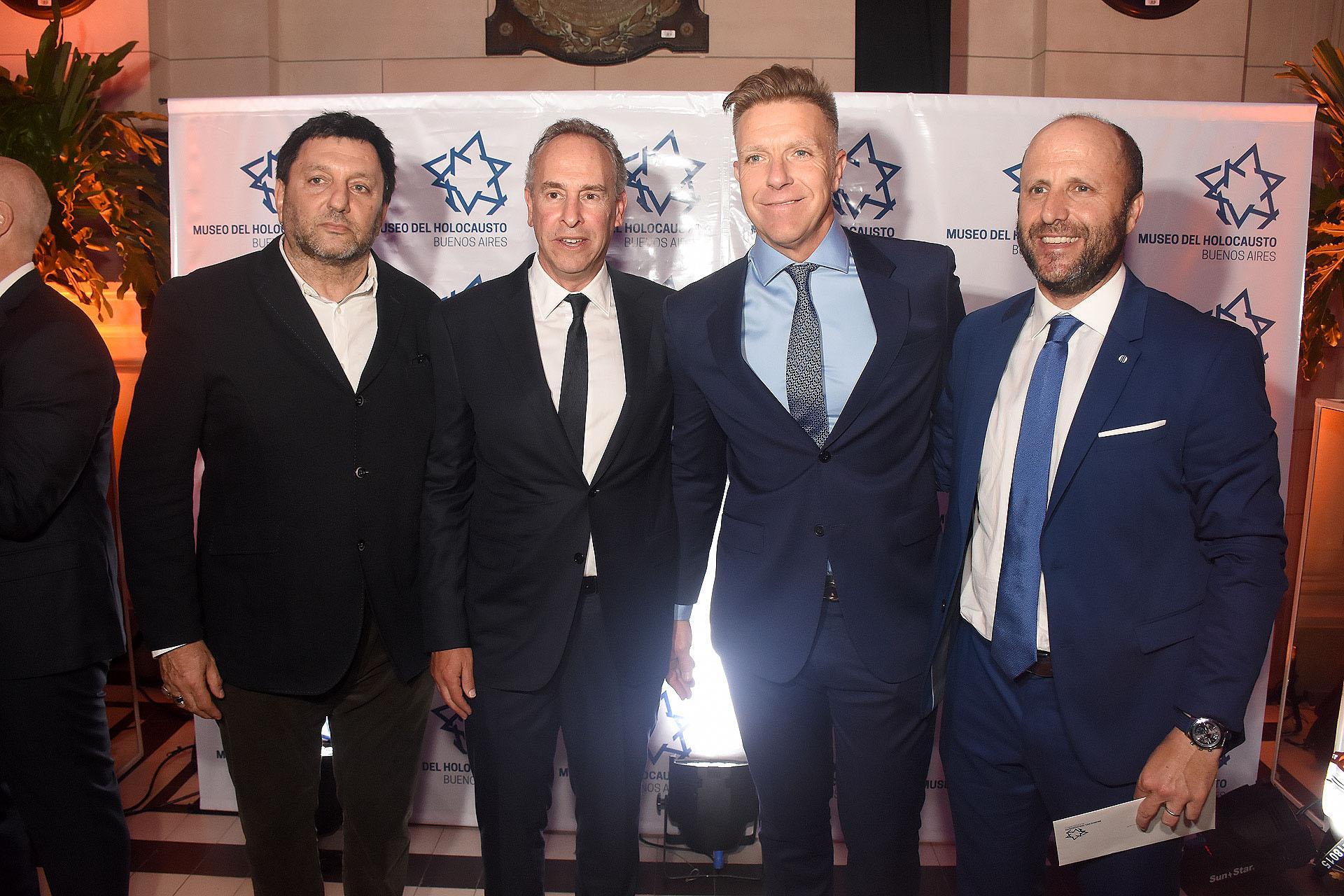 Gabriel Hochbaum, Marcelo Mindlin, Alejandro Fantino, y Mariano Borinsky