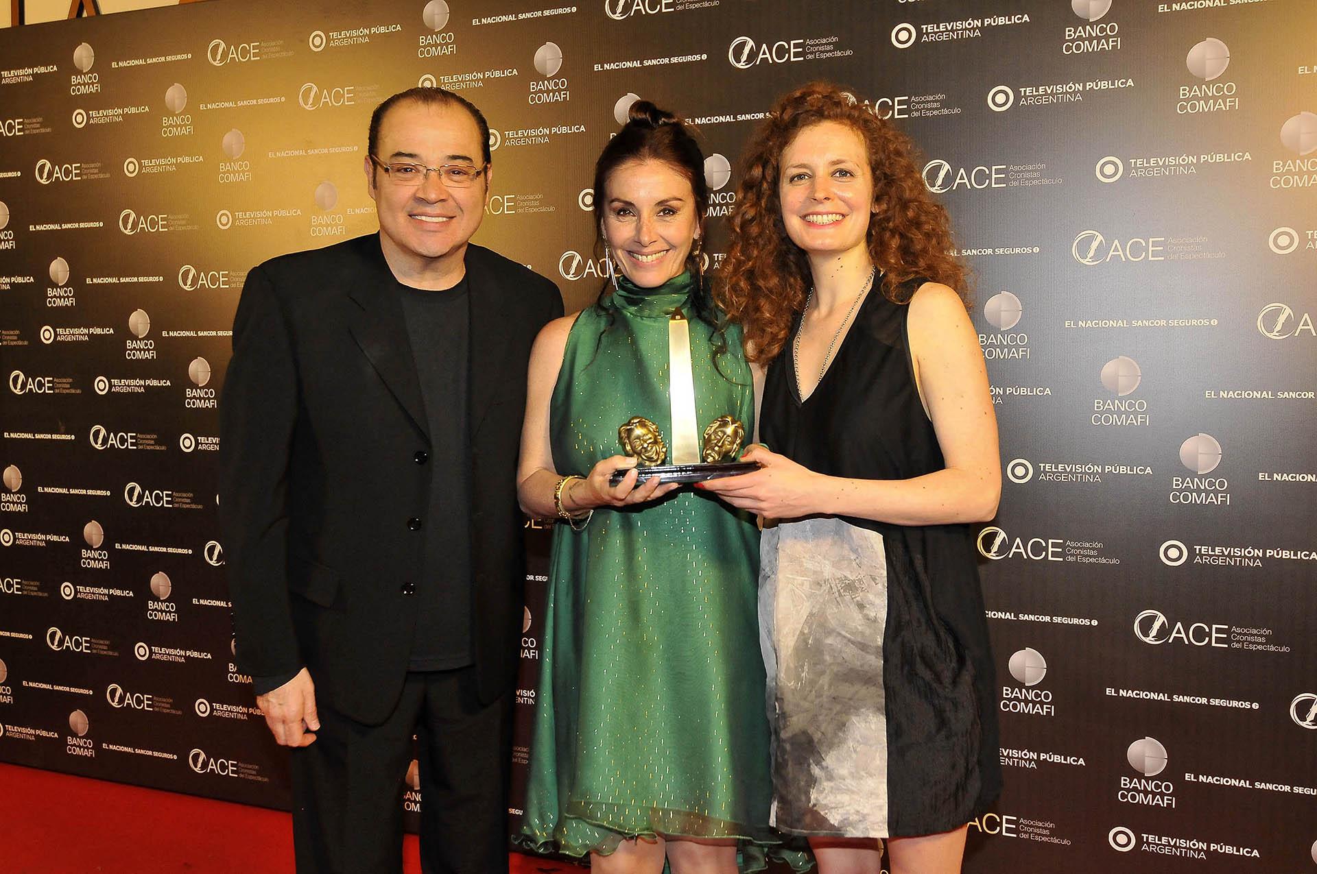 Jorge Suárez, Viviana Saccone y María Zubiri
