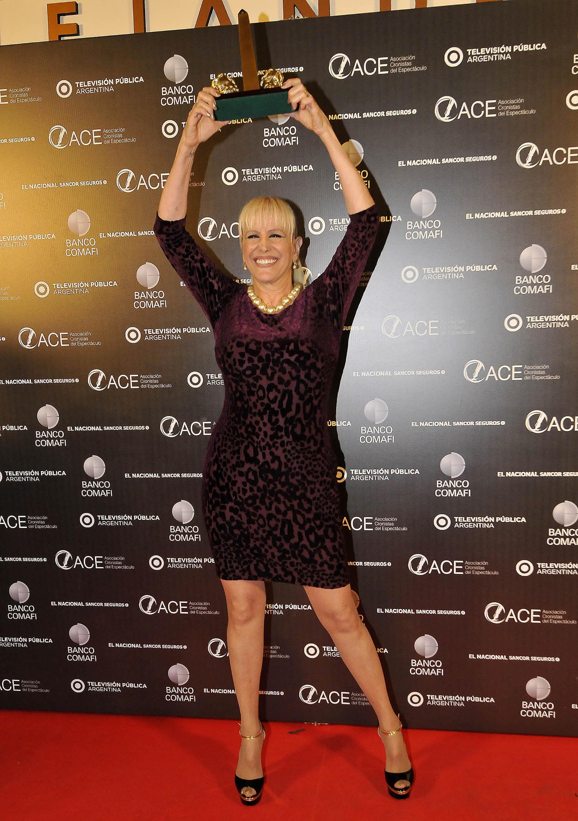 """Valeria Lynch fue distinguida en los premios ACE por su papel en """"Sugar Boulevard"""". El espectáculo fue el más premiado de la noche con nueve estatuillas (Verónica Guerman / Teleshow)"""