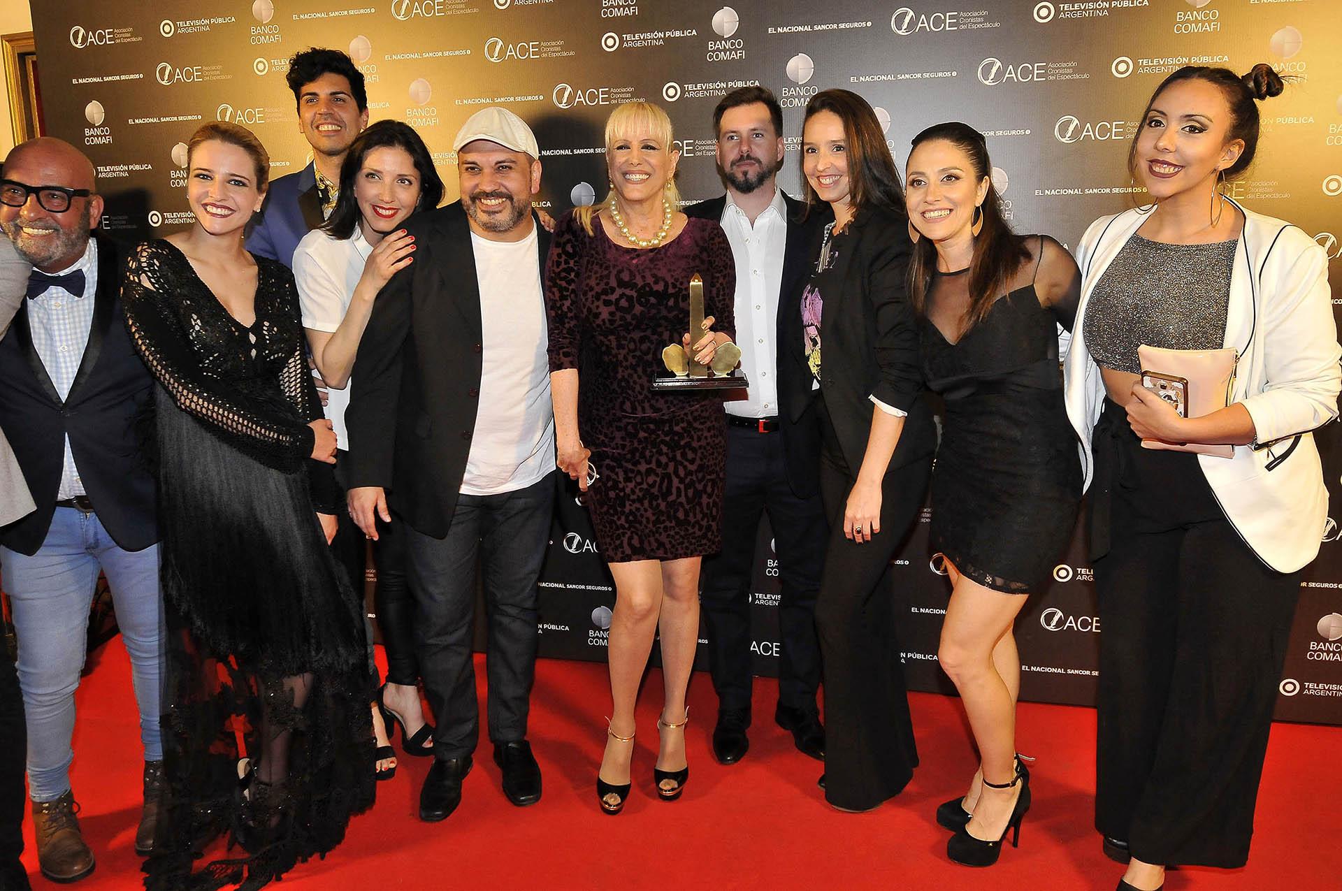 """Los integrantes de """"Sunset Boulevard"""", el espectáculo más premiado de la noche con nueve estatuillas (Verónica Guerman / Teleshow)"""