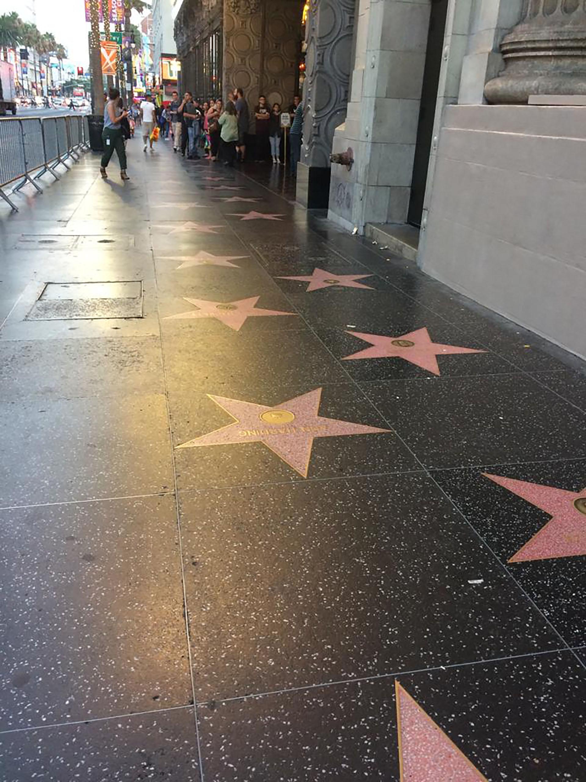 Paseo de la fama, sobre Hollywood Boulevard y Vine Street