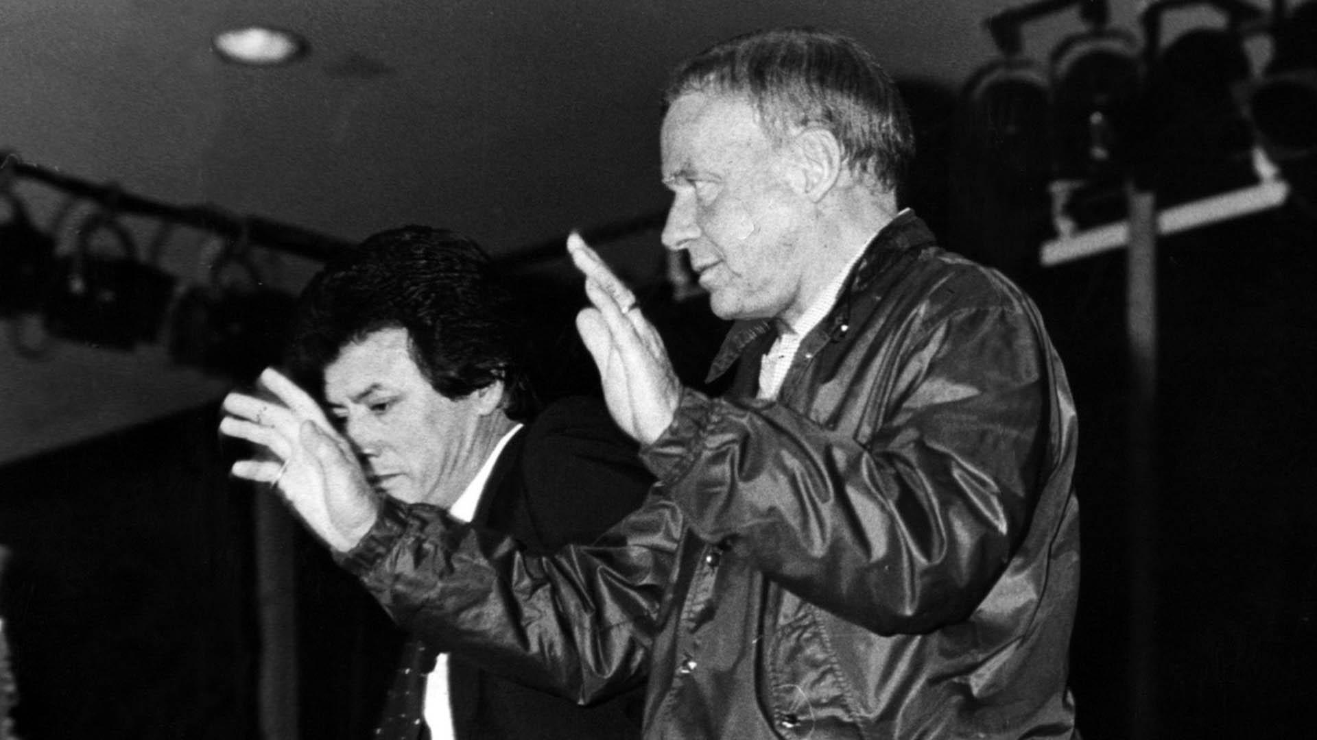 """Corazón contento y bolsillos vacíos… """"Palito"""" Ortega y Frank Sinatra (Foto: Prensa Penguin Random House)"""