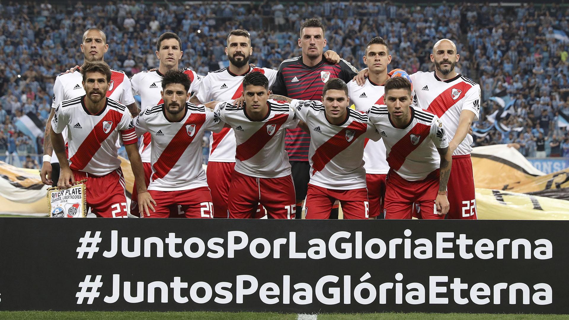 River había perdido por 1-0 la ida de la semifinal de la Copa Libertadores 2018 ante Gremio en Buenos Aires peró ganó 2 a 1 en Porto Alegre, Brasil, y se clasificó a la final (Reuters)