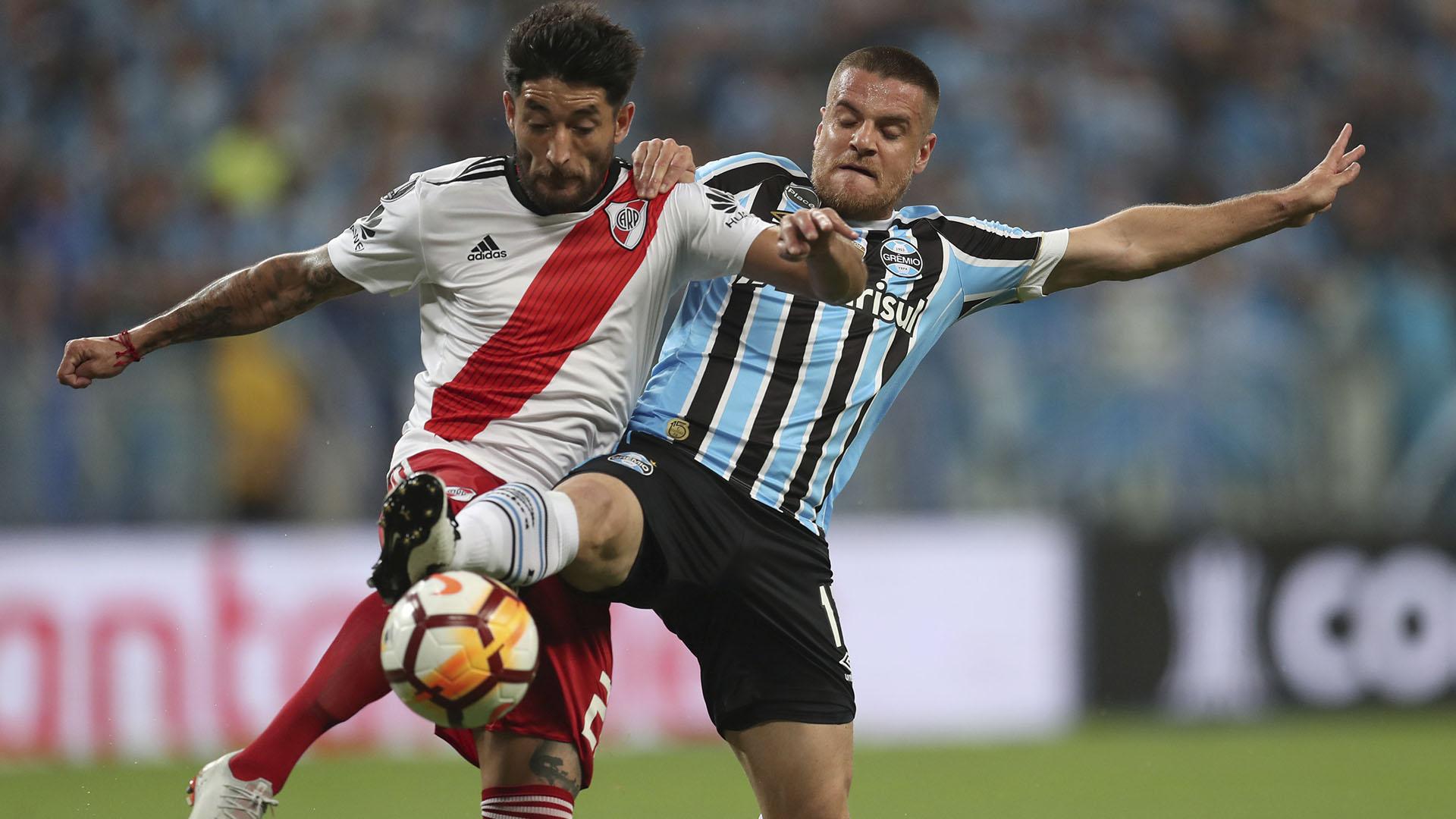 Milton Casco, uno de los jugadores con menos aceptación en el hincha de River, fue clave en la clasificación a la final de la Copa Libertadores (Reuters)