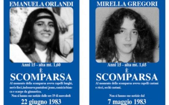 Los carteles que señalaban la desaparición de Orlandi y Gregori