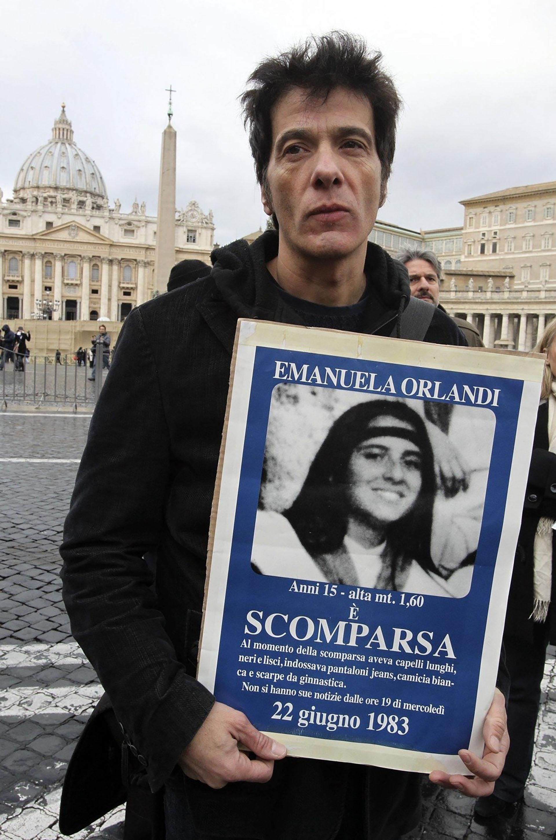 El hermano de Emanuela Orlandi nunca dejó de buscarla