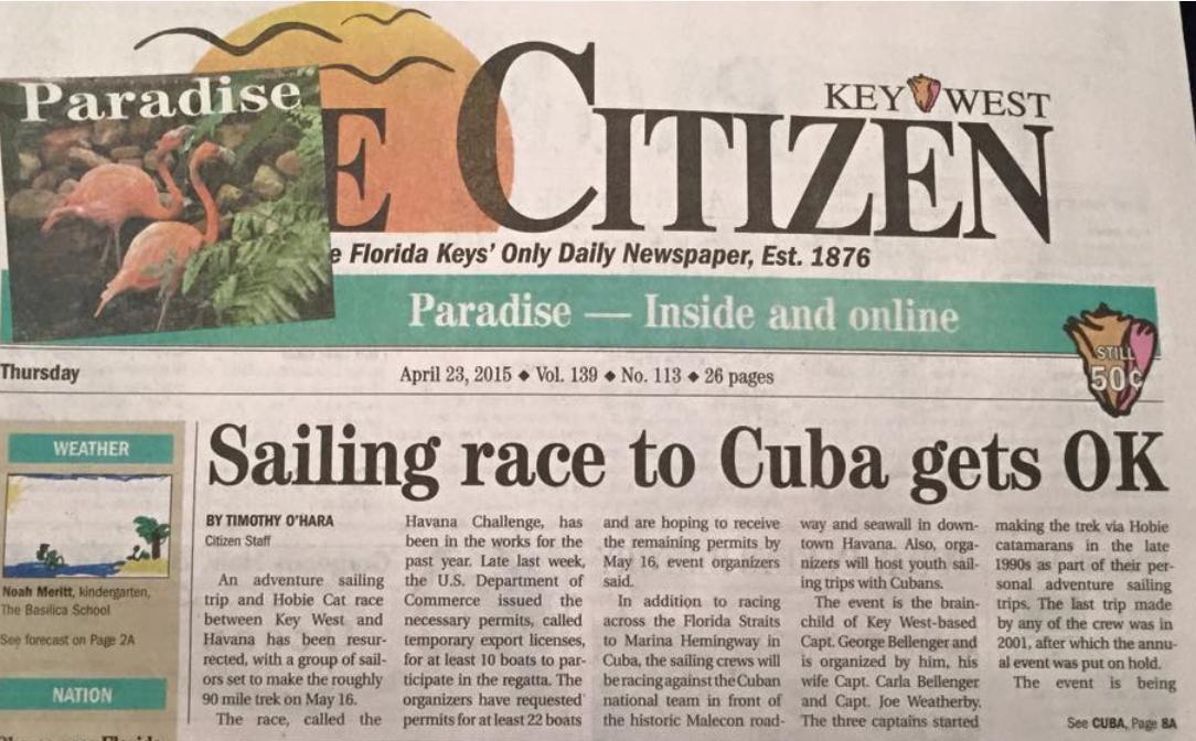 Key West Citizen, el diario de Cayo Hueso que Donnelly dirigió hasta marzo de este año