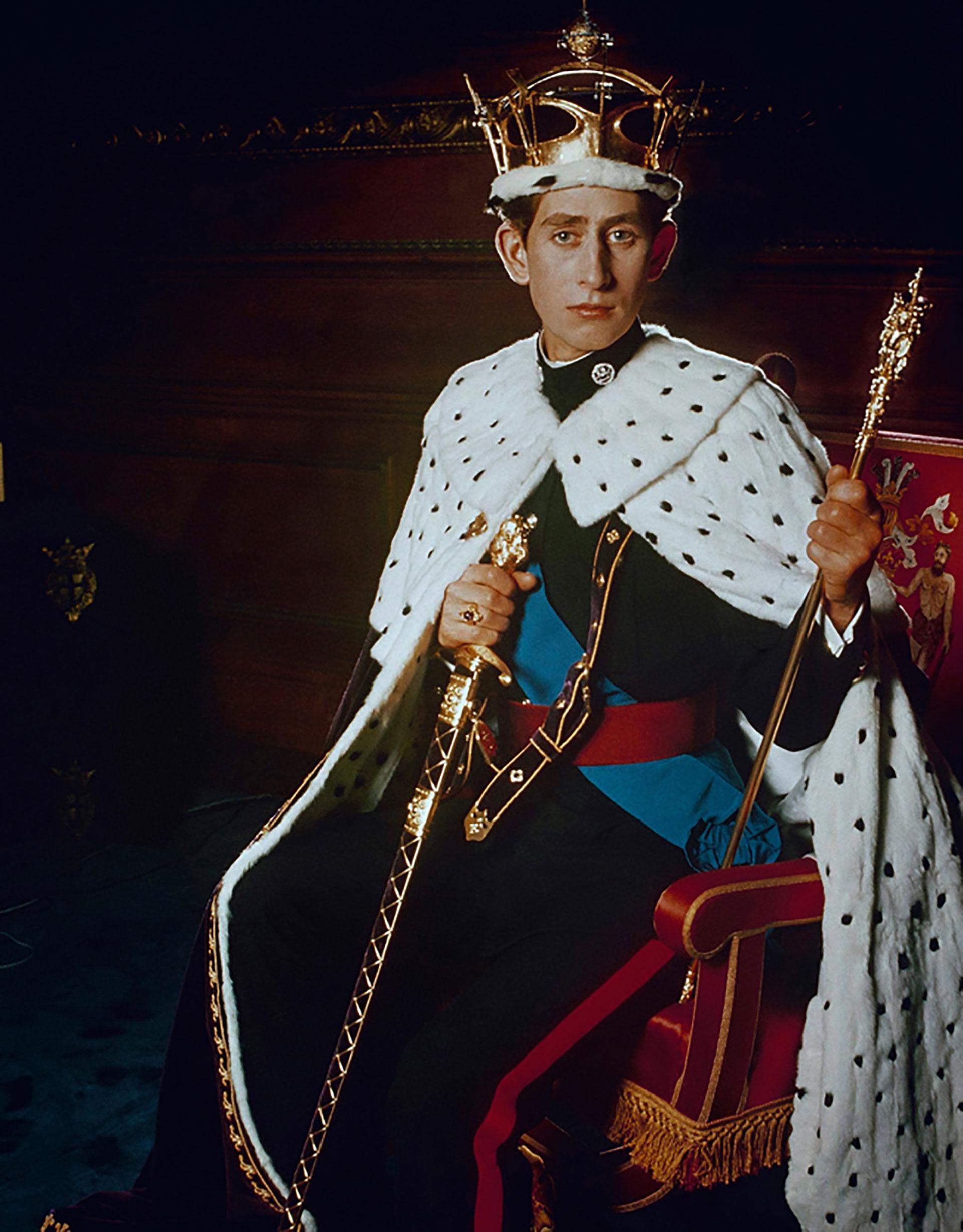 El príncipe de Gales, en una producción fotográfica de 1969 (AP)