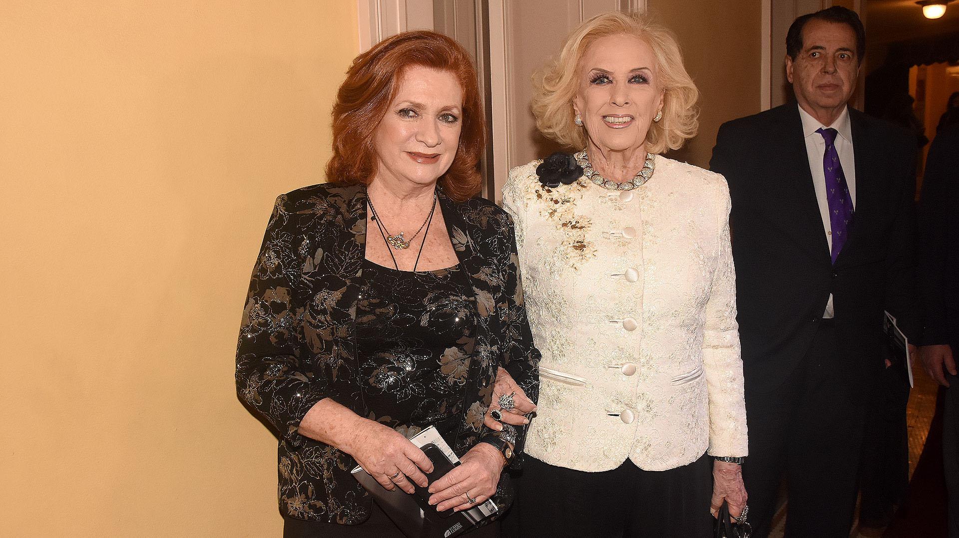 Teresa González Fernández y Mirtha Legrand