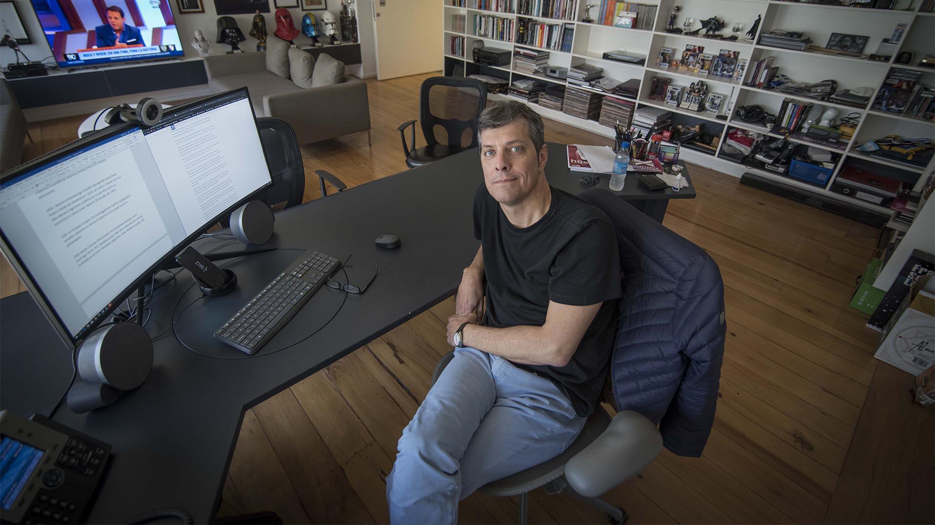 Mario Pergolini en su oficina