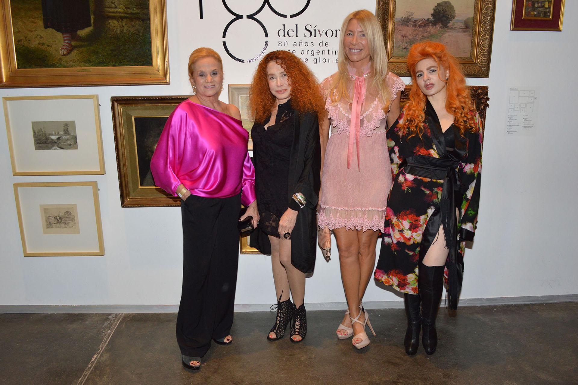 Elsa Serrano, Maureene Dinar, Susana Clur y Verónica De la Canal