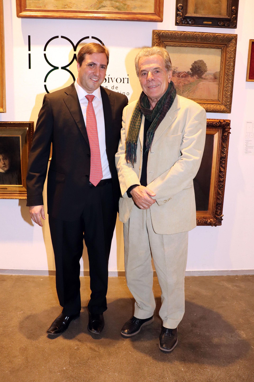 Steven Wainer (Asociación Amigos del Museo Sívori) y Víctor Laplace