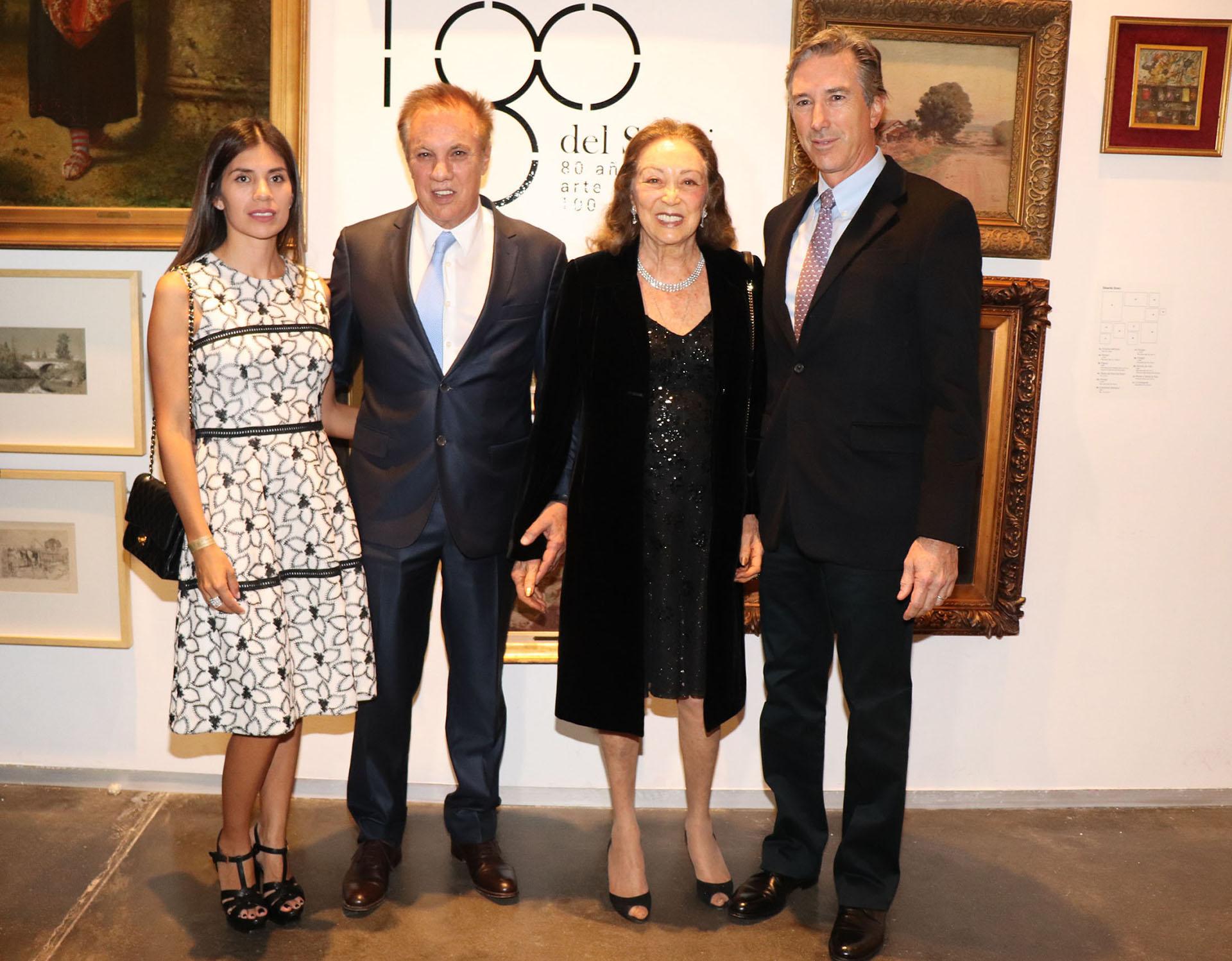 Gina Vargas de Roemmers, Alberto Roemmers, Hebe Colman de Roemmers, y Pablo Roemmers