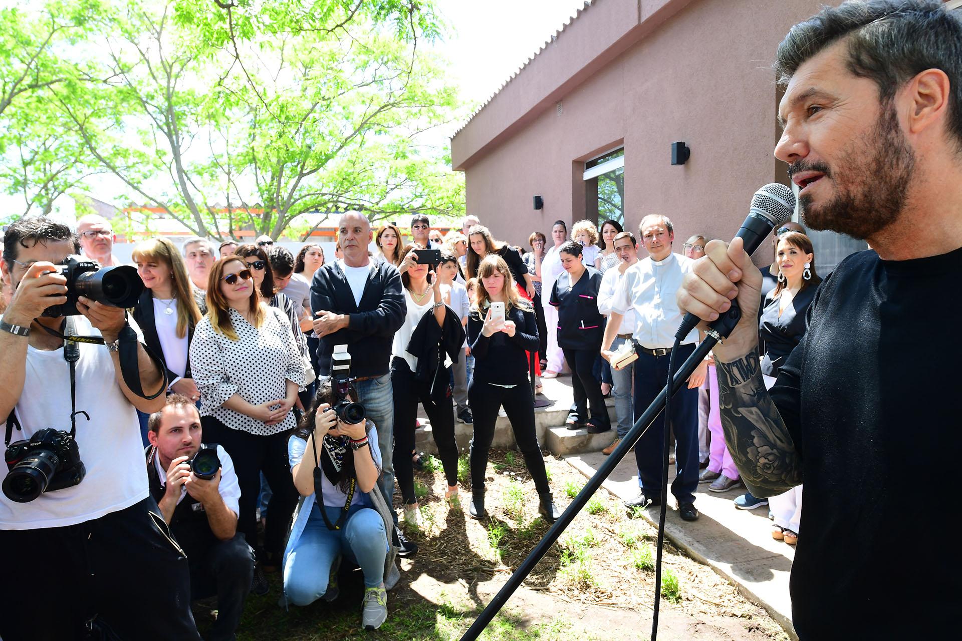 Marcelo Tinelli habló en la inauguración del Edificio de Salud Mental de Bolívar