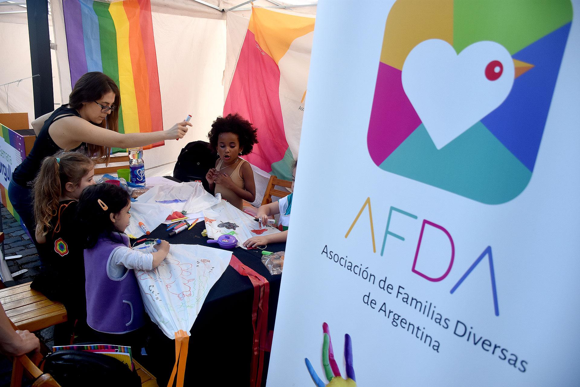La Asociación de Familias Diversas de Argentina (AFDA), una de las organizaciones que participó de la iniciativa