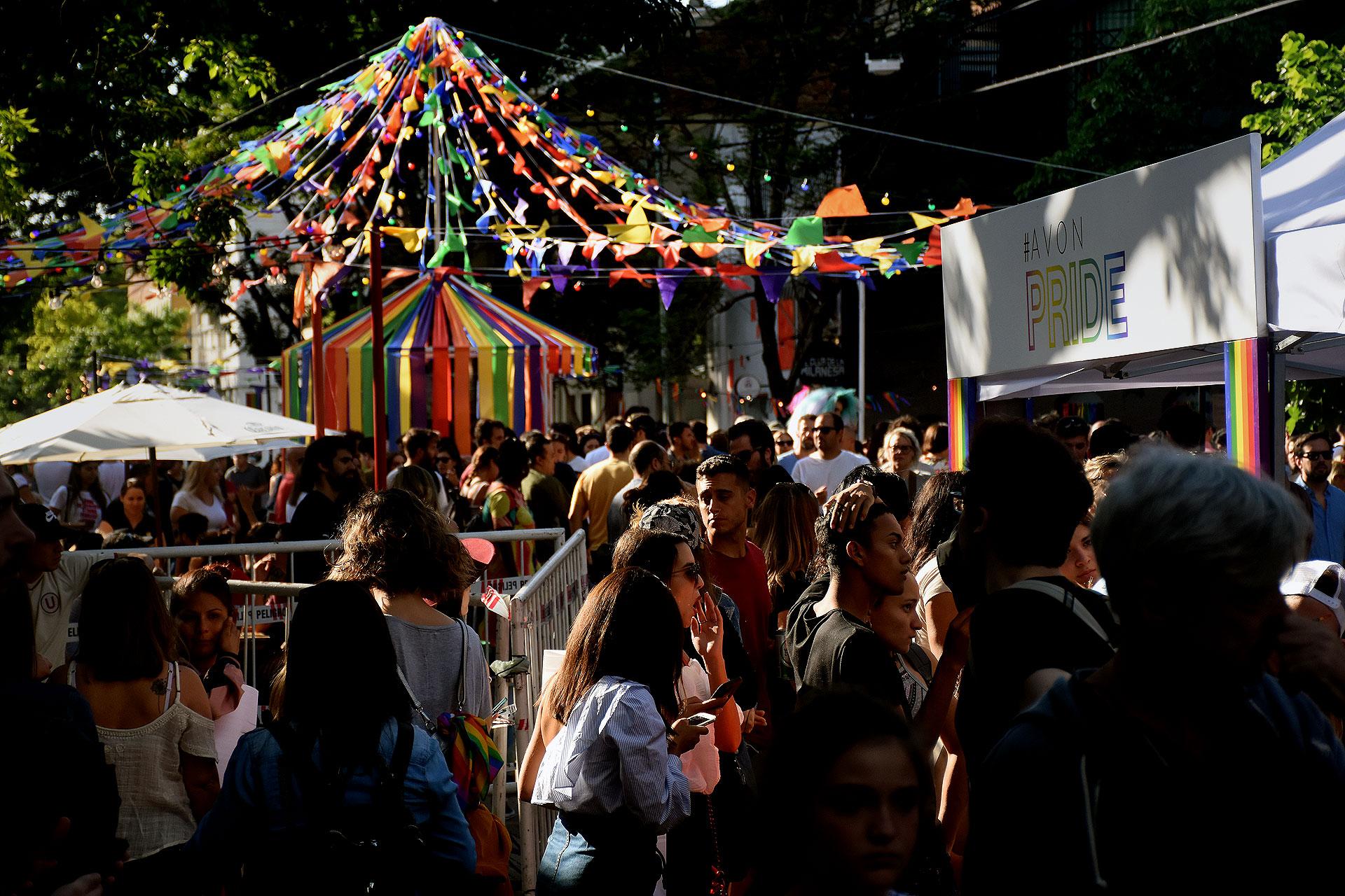 Ayer en Palermo hubo un festival al aire libre, con espectáculos en vivo hasta la noche