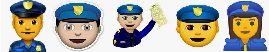 Emojis de policía