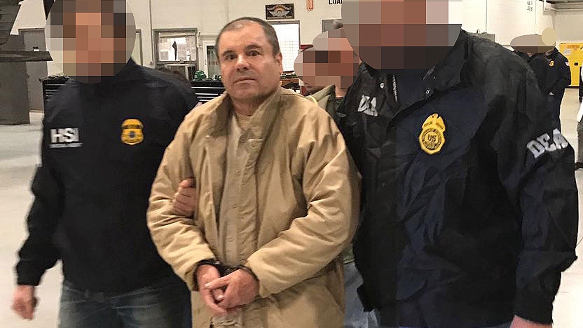 Joaquín 'Chapo' Guzmán es señalado de enviar más de 150 toneladas de cocaína a Estados Unidos, las autoridades buscan cadena perpetua. (Foto AFP)