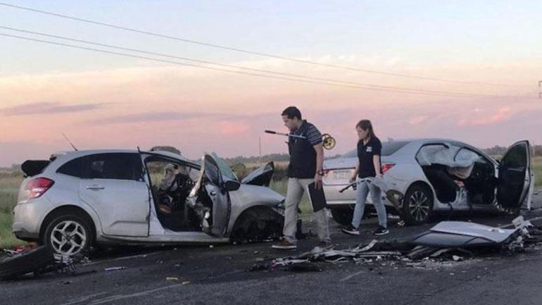 Así quedaron los dos autos involucrados en el accidente