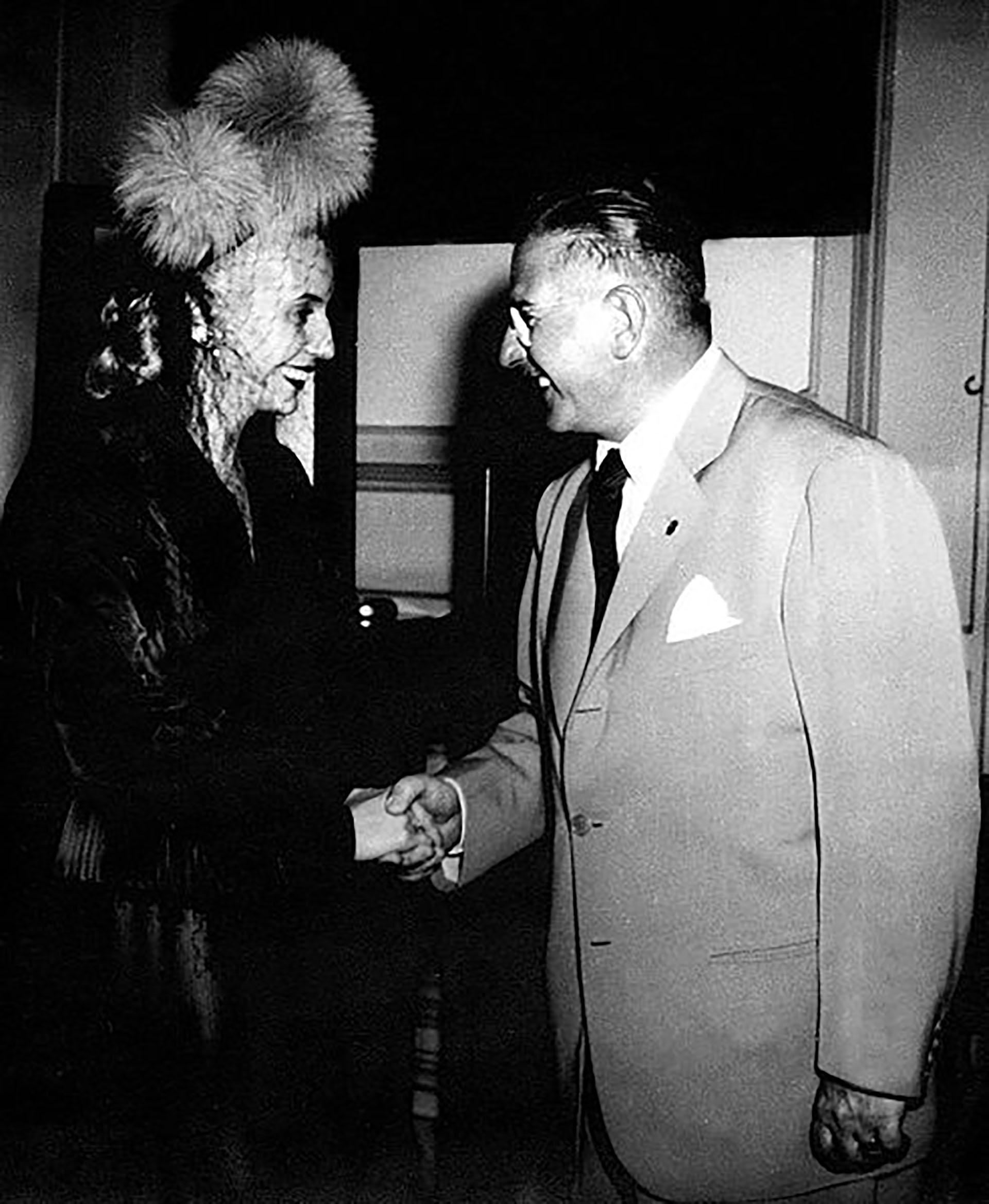 Eva Perón y Mercante (Archivo Histórico de la Provincia de Buenos Aires)