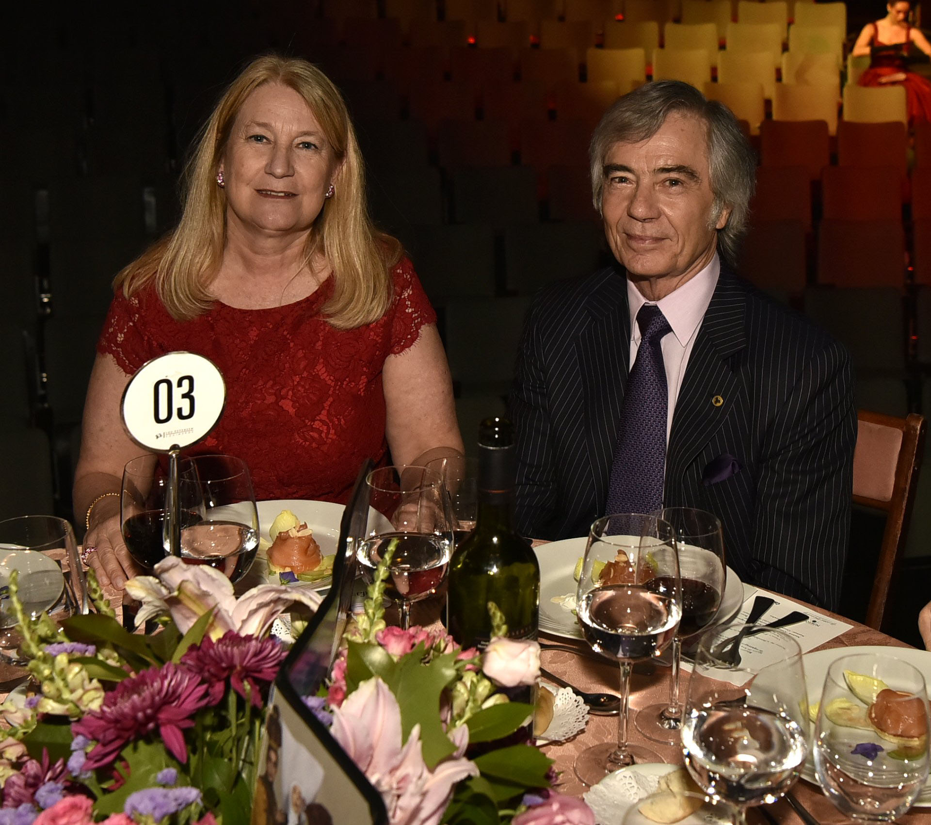 María Taquini de Blaquier y Charlie Blaquier