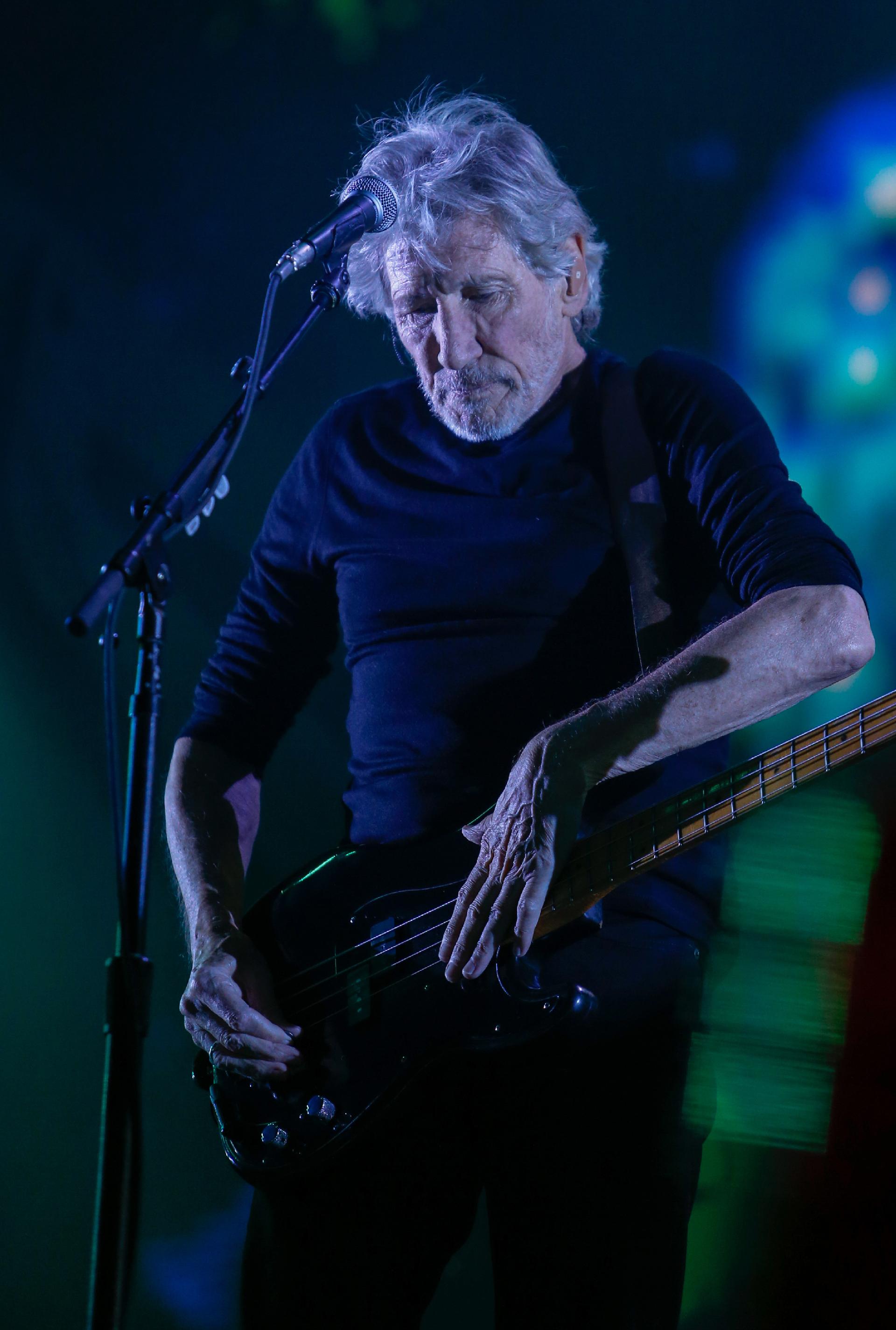 """Roger Waters tocó frente a una multitud en el Estadio único de La Plata. El cantante interpretó los hits de Pink Floyd y los temas de su disco solista""""Is This the Life We Really Want?"""" (Nicolás Aboaf)"""